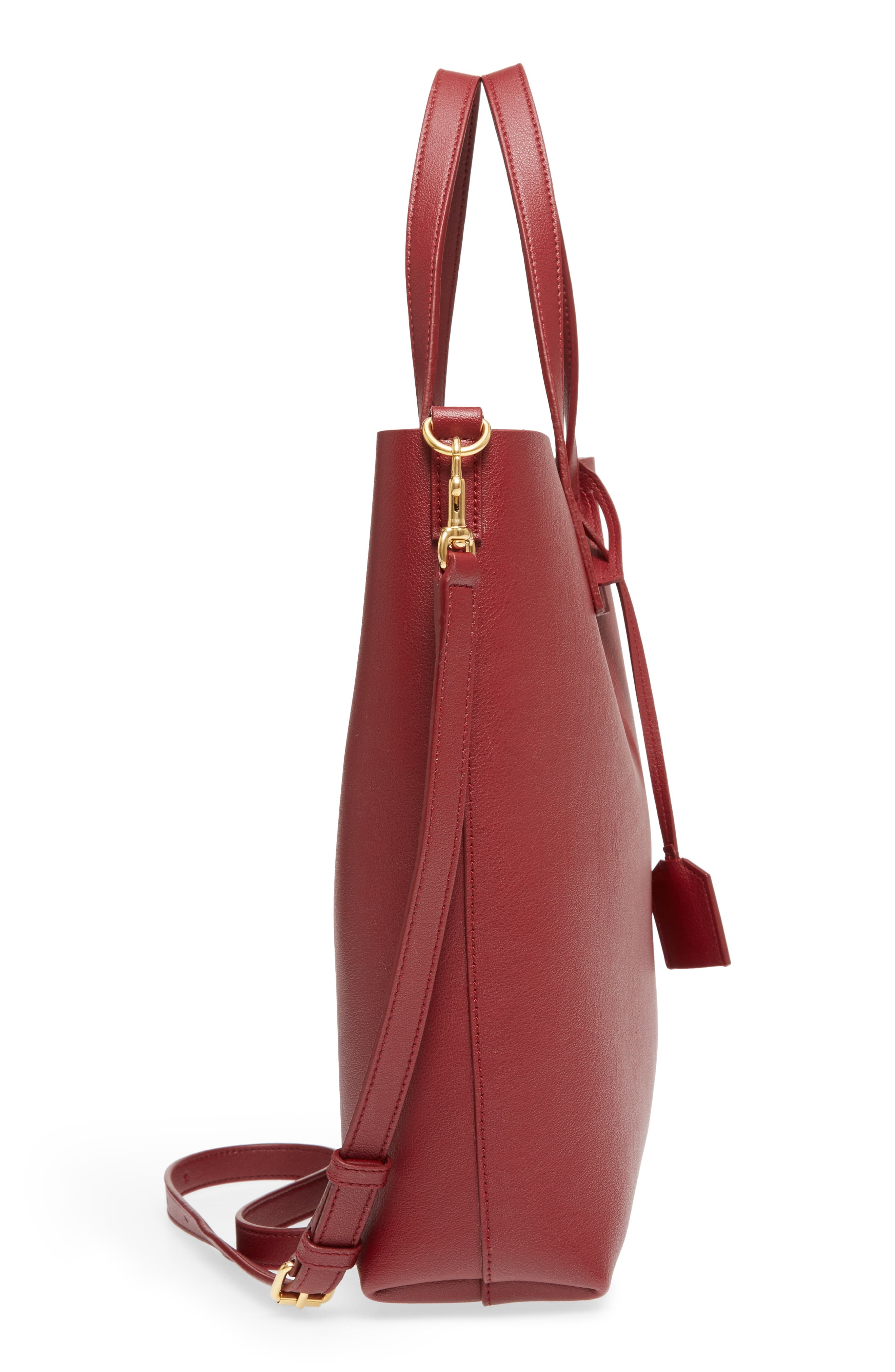 Alternate Image 5  - Saint Laurent Toy Shopping Leather Tote