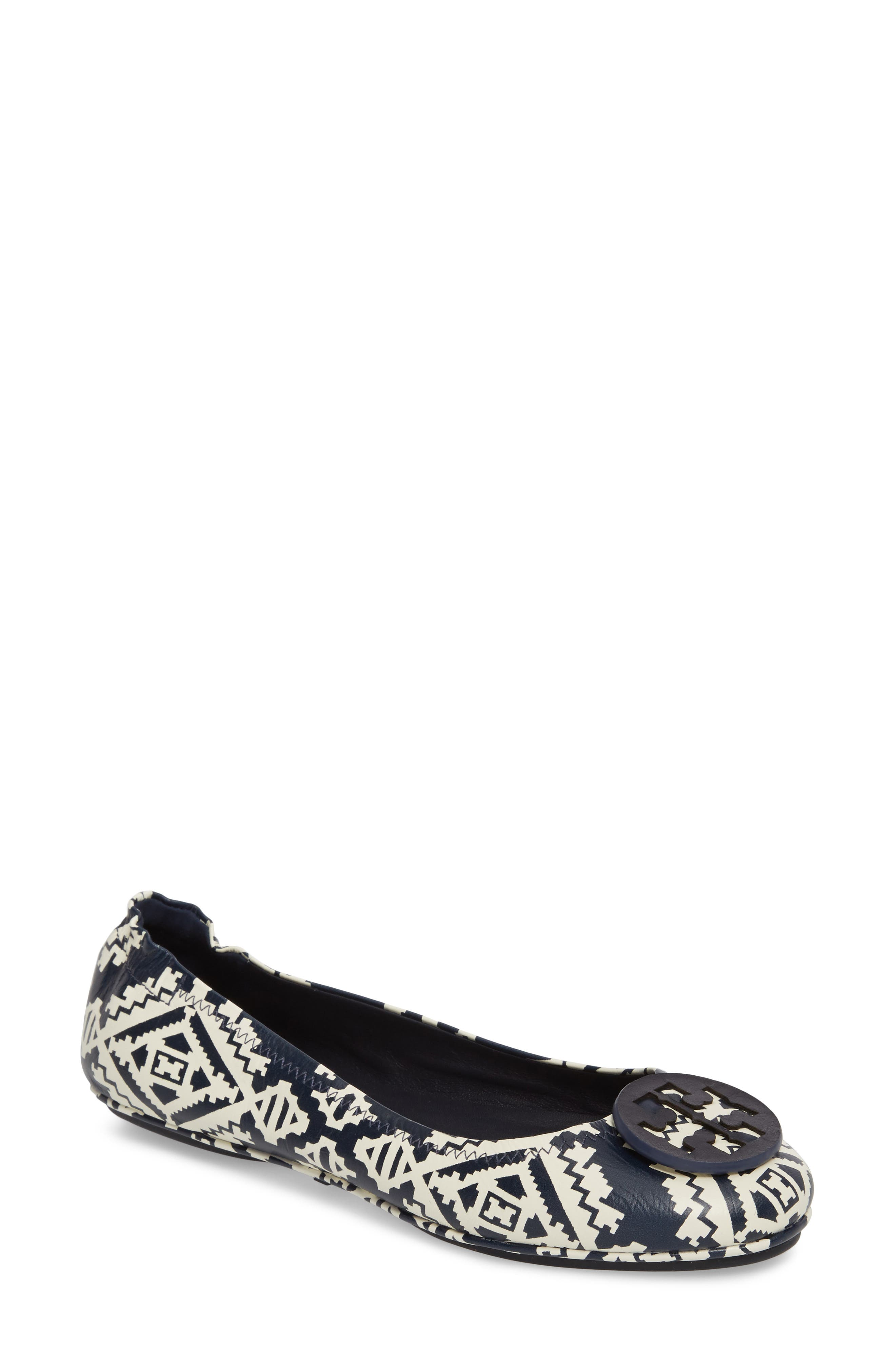 'Minnie' Travel Ballet Flat,                             Main thumbnail 1, color,                             Tapestry Geo