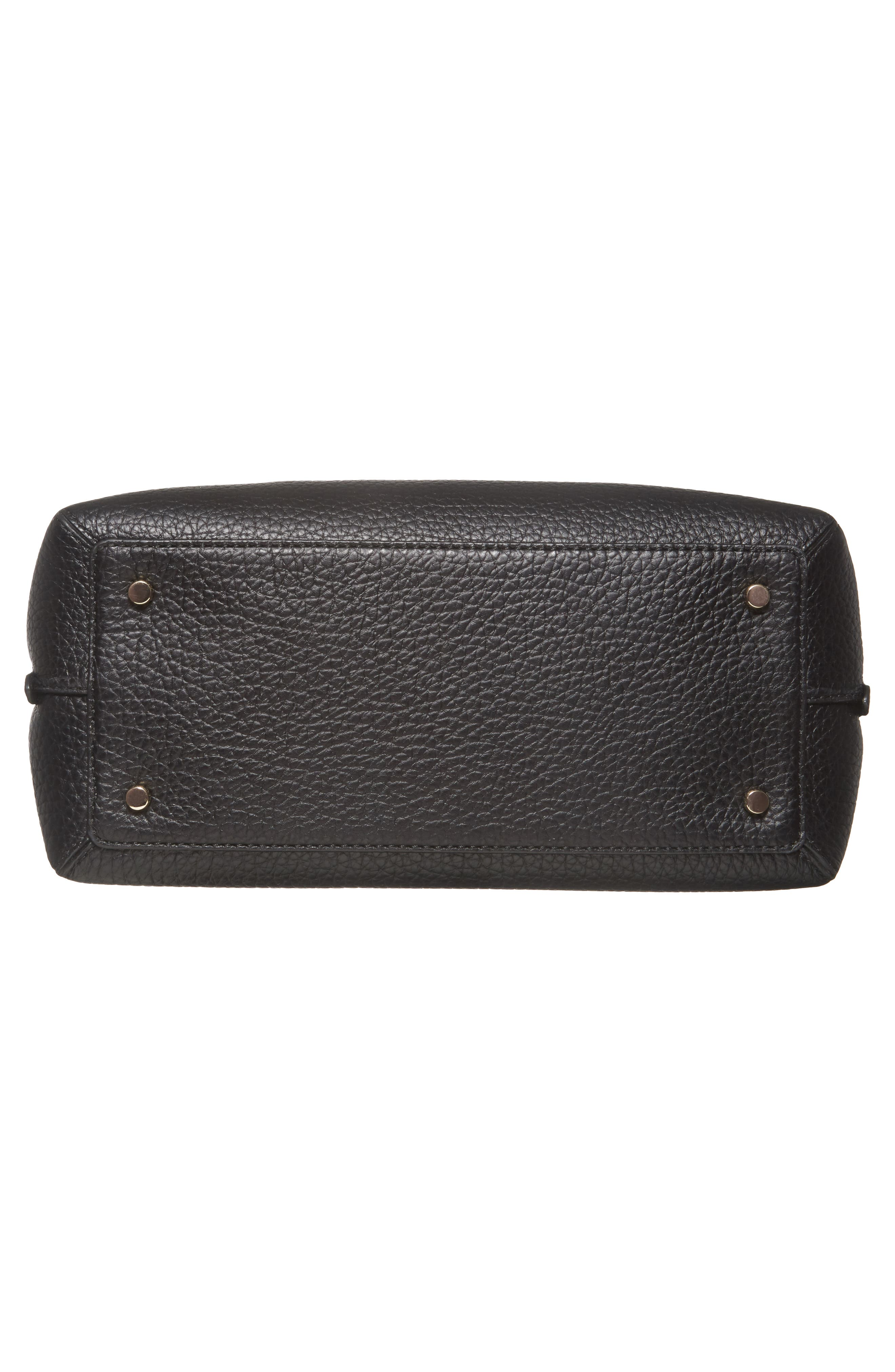 carter street - selena leather tote,                             Alternate thumbnail 6, color,                             Black
