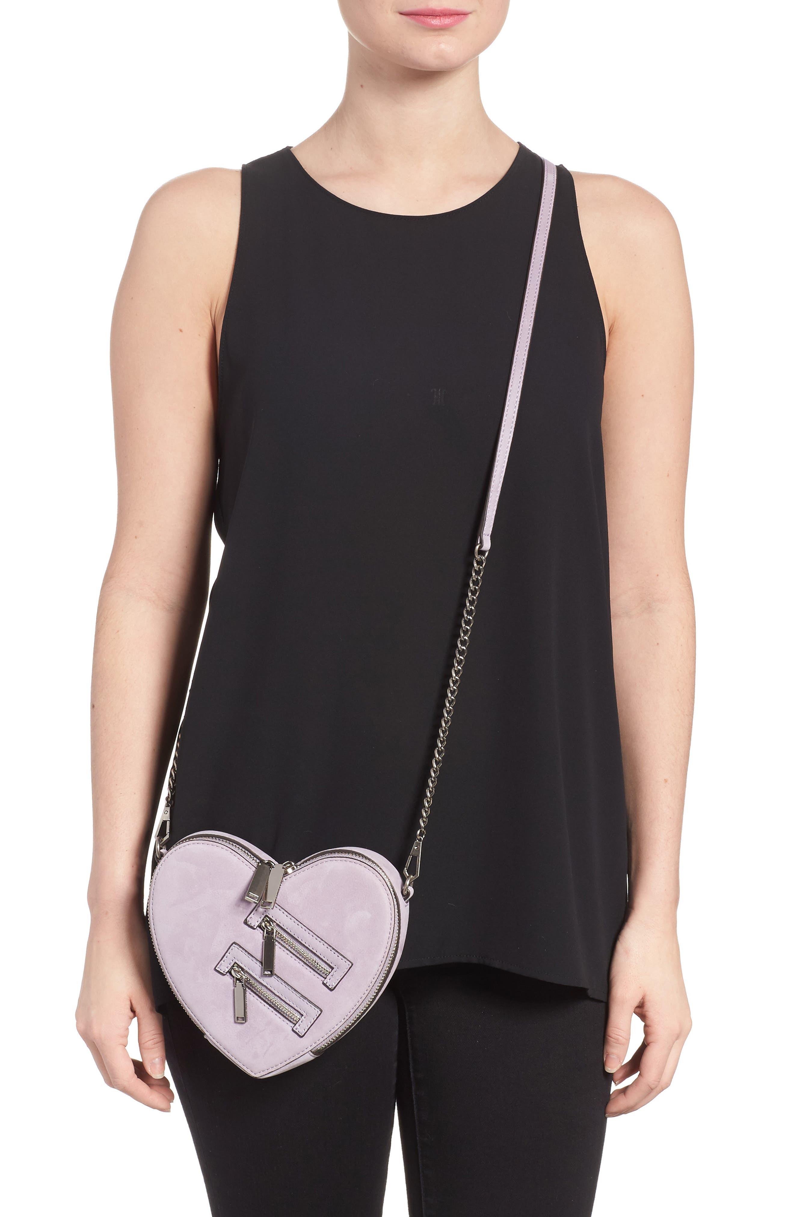 Alternate Image 2  - Rebecca Minkoff Jamie Heart Leather Crossbody Bag
