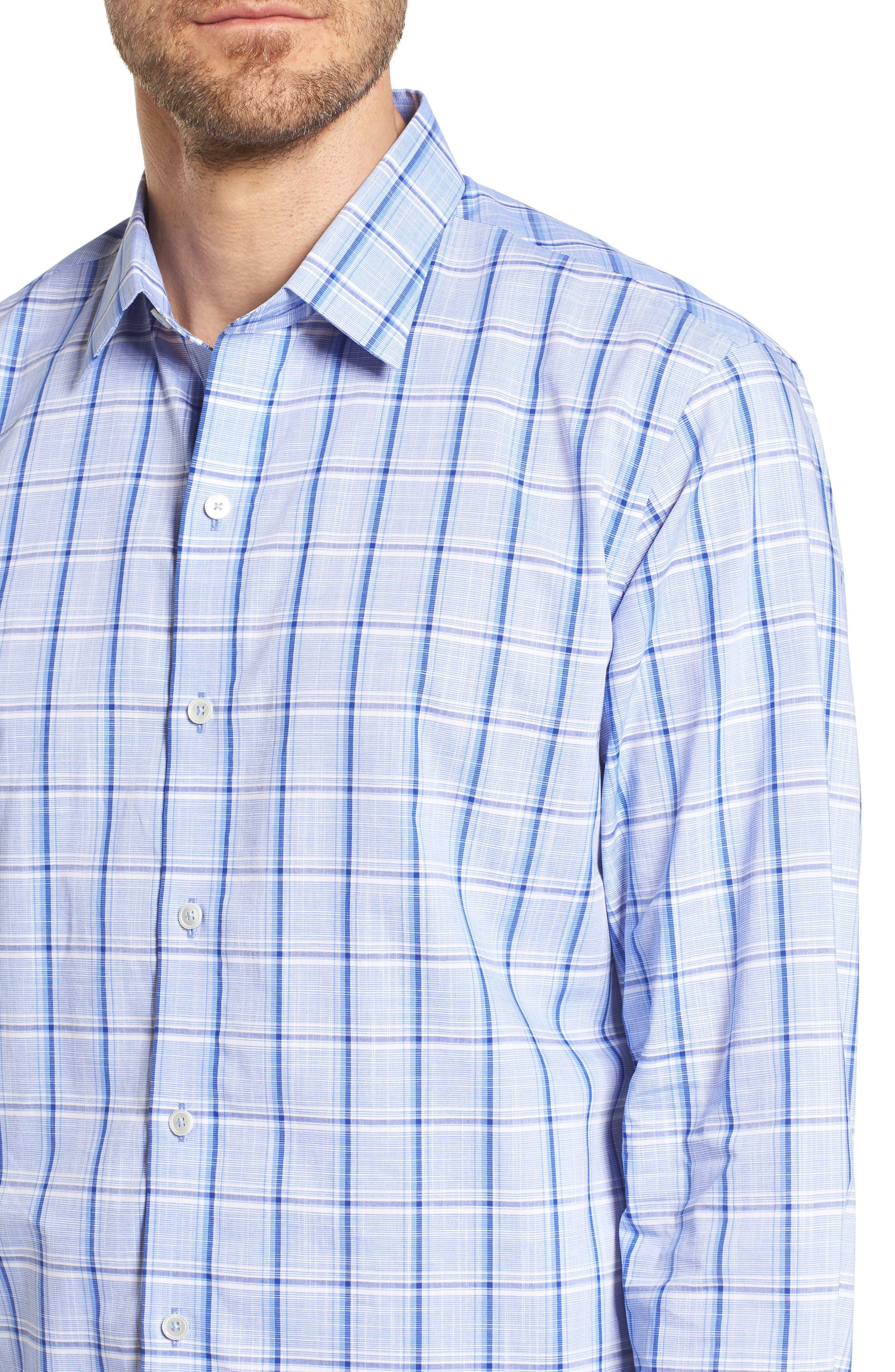 Alternate Image 4  - Zachary Prell Washington Plaid Sport Shirt