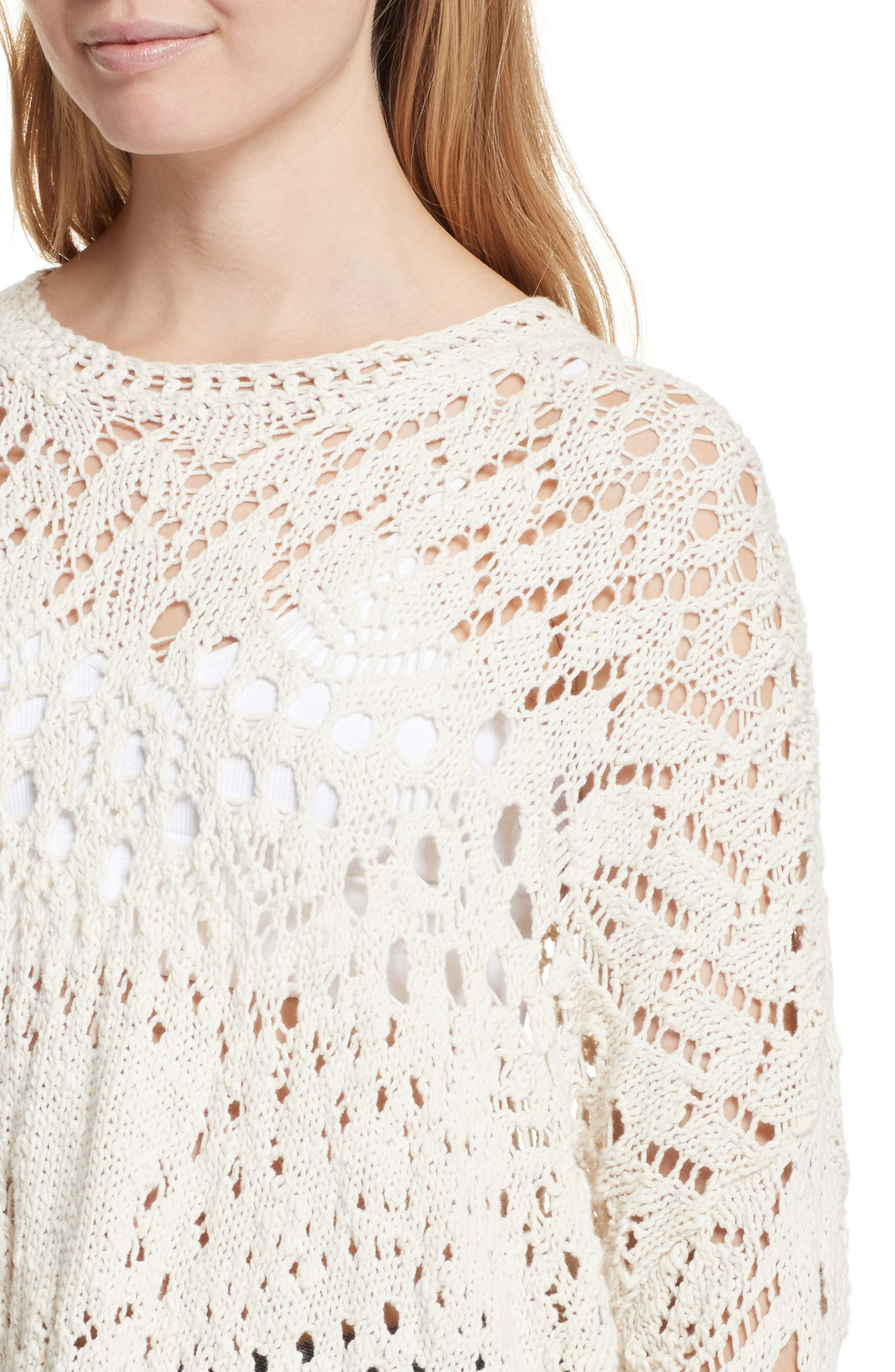 Alternate Image 4  - Free People Traveling Lace Sweater