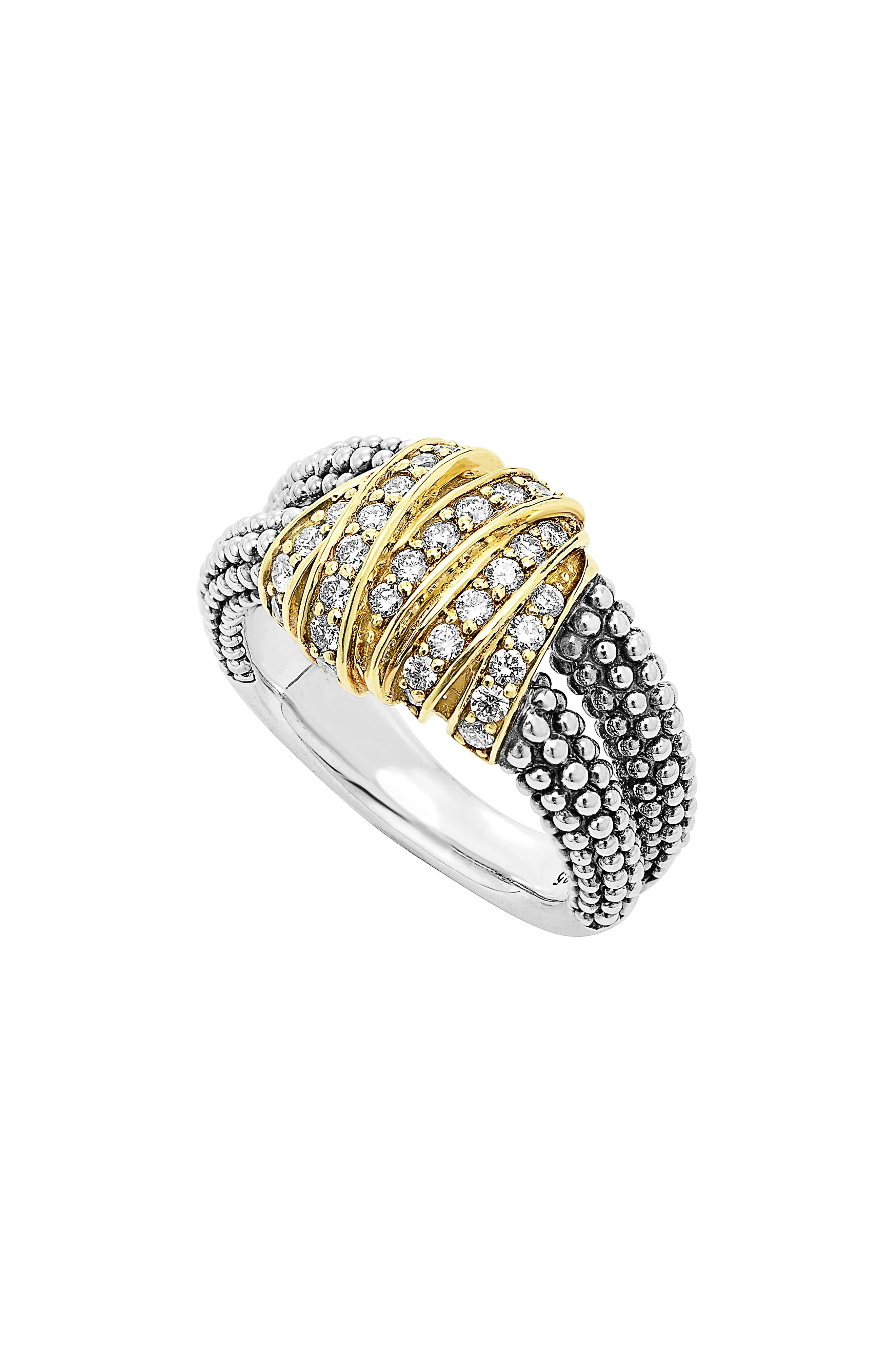 'DIAMONDS & CAVIAR' MEDIUM DIAMOND RING
