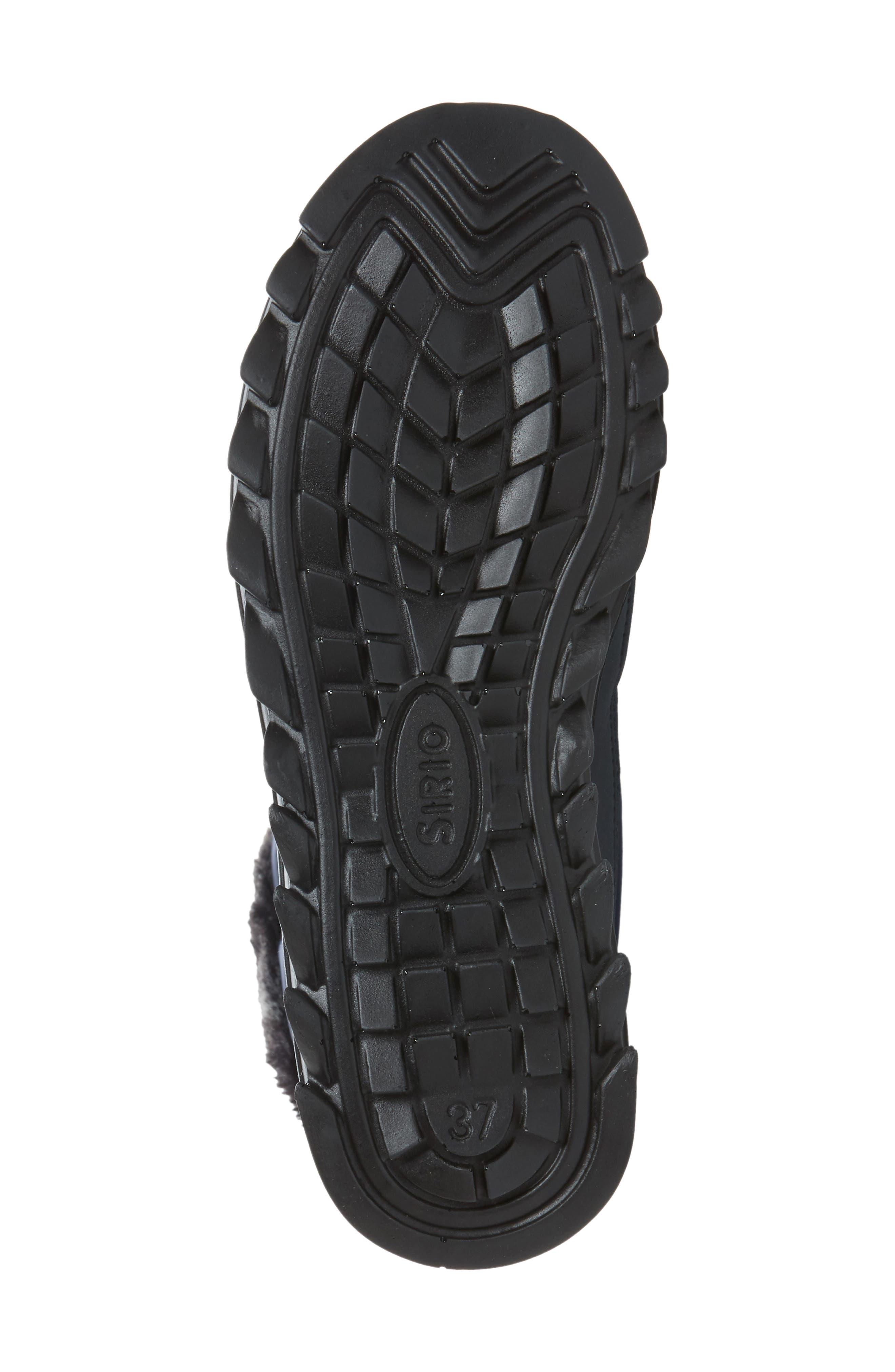 Toboggan 2 Faux Fur Trim Insulated Waterproof Boot,                             Alternate thumbnail 6, color,                             Navy Fabric