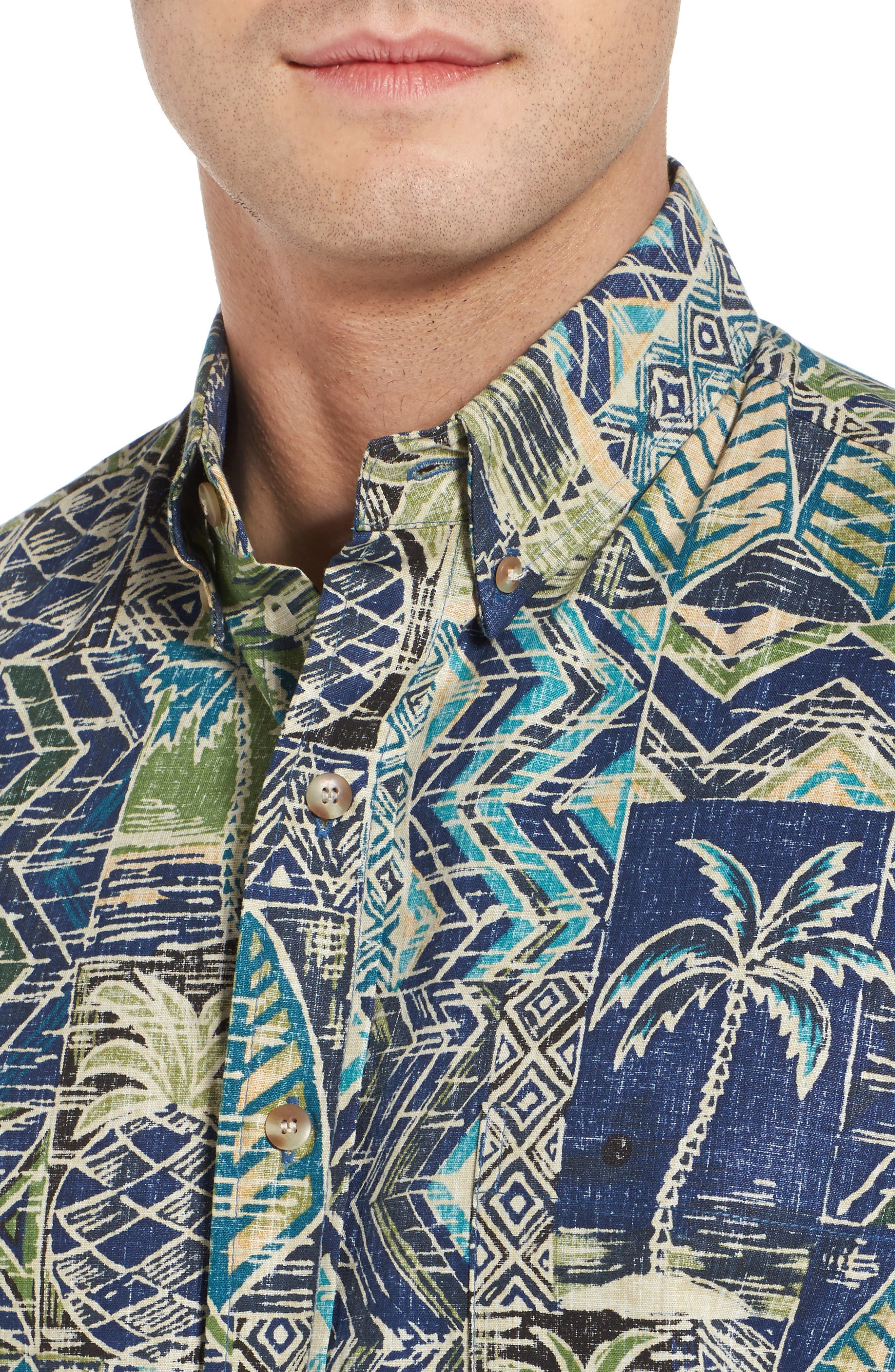Makani Classic Fit Non-Iron Sport Shirt,                             Alternate thumbnail 4, color,                             Navy