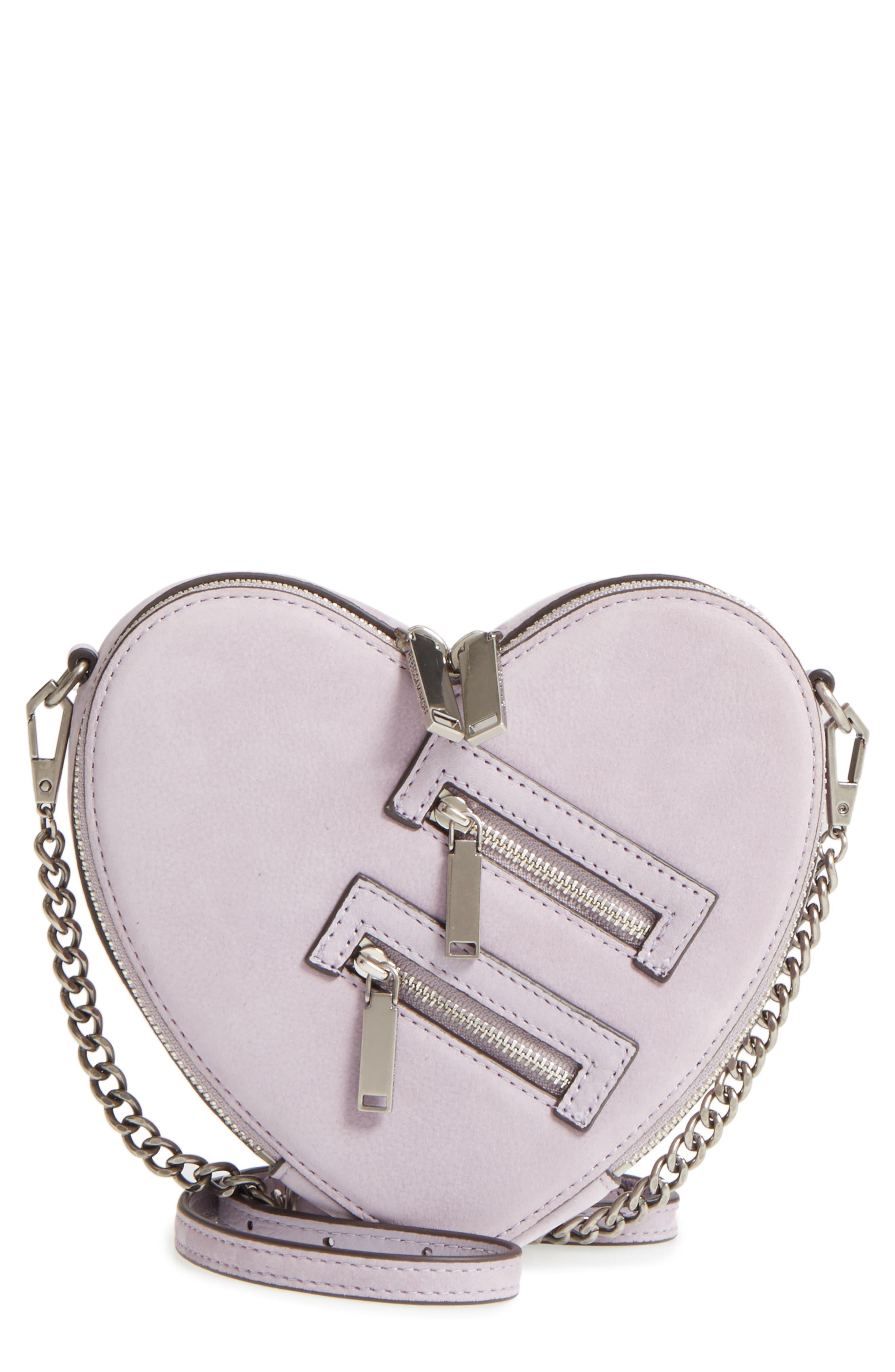 Alternate Image 1 Selected - Rebecca Minkoff Jamie Heart Leather Crossbody Bag