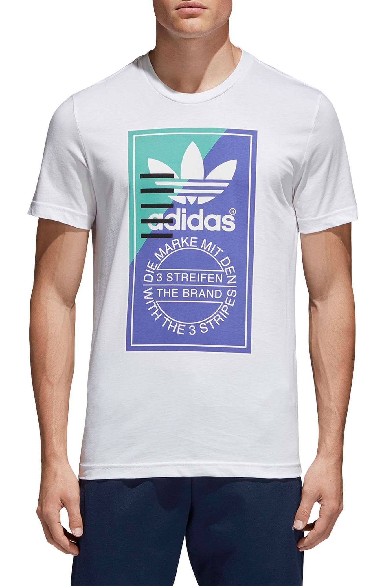 Tongue Label T-Shirt,                         Main,                         color, White