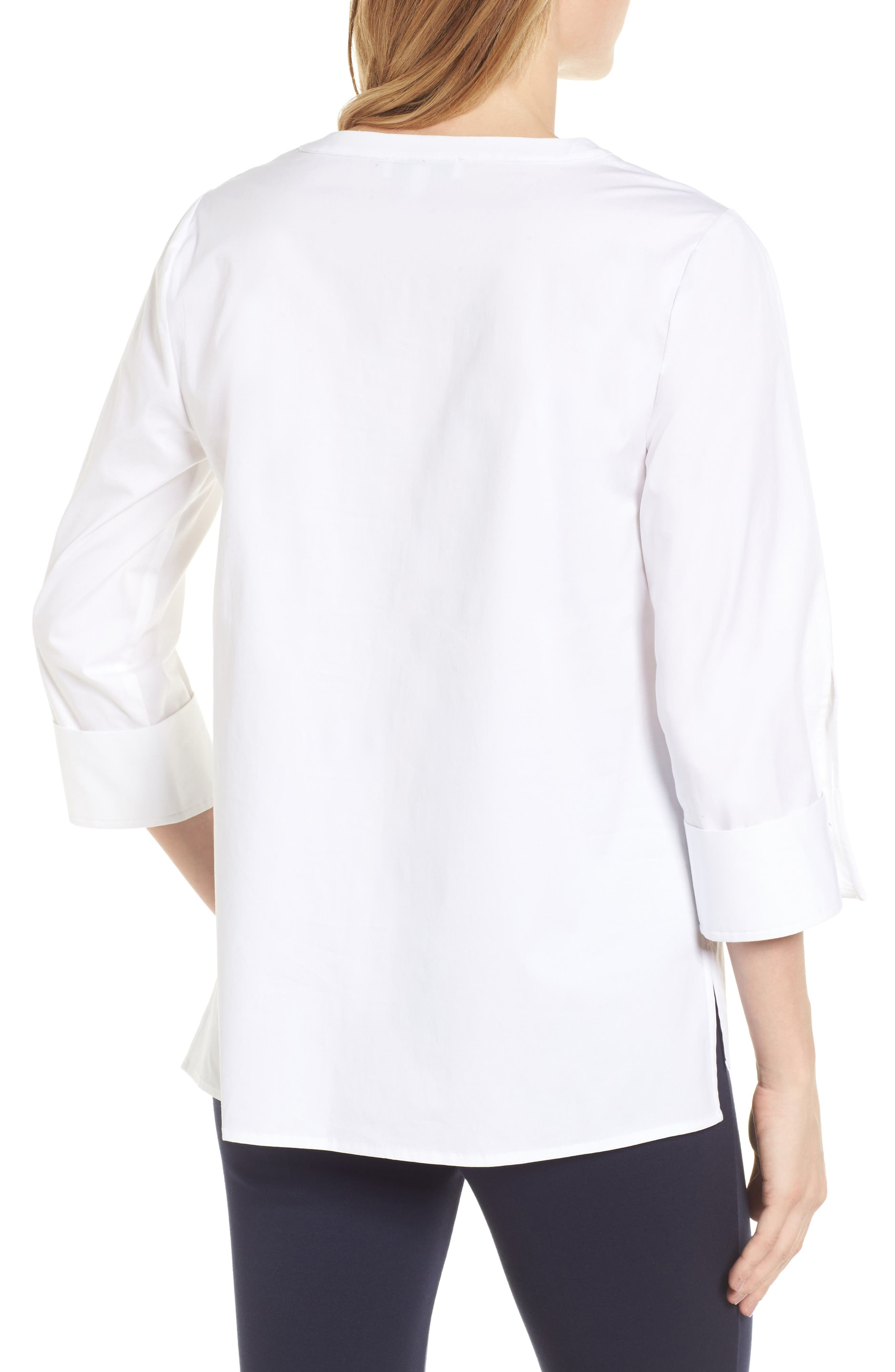 Poplin Blouse,                             Alternate thumbnail 2, color,                             145-Ultra White