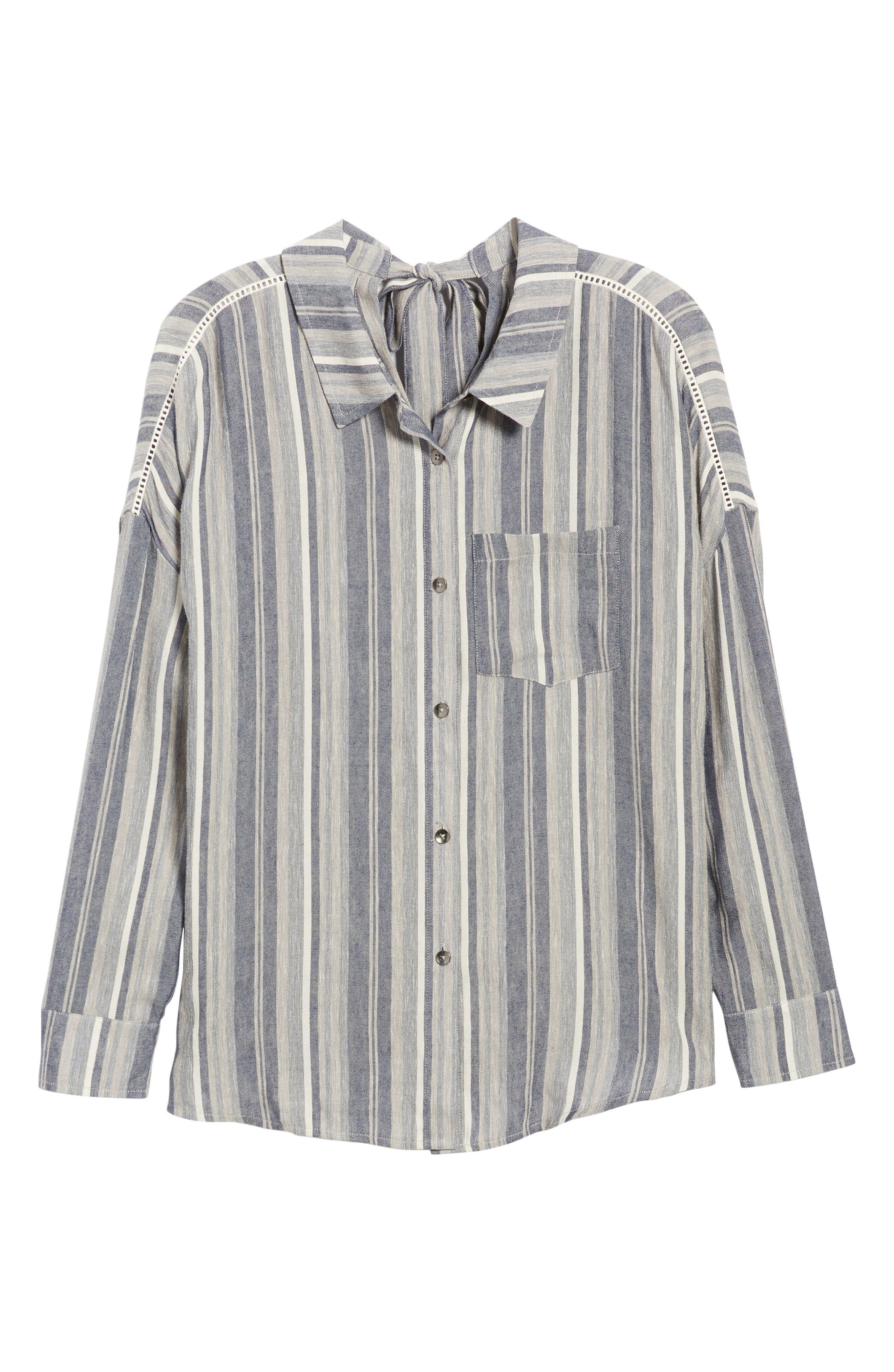 Stripe Chambray Shirt,                             Alternate thumbnail 6, color,                             Multi