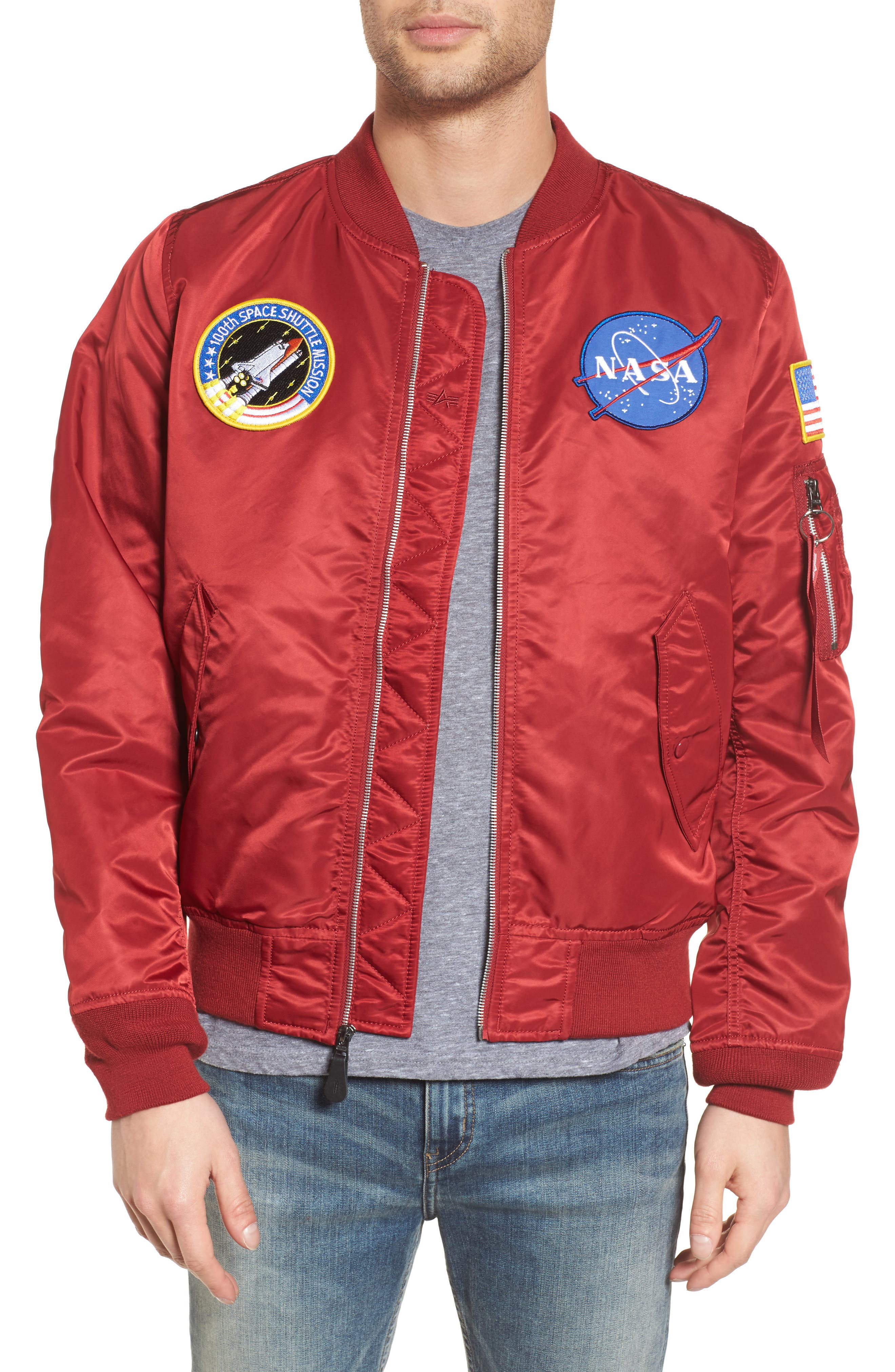 Alpha Industries Lightweight NASA L-2B Bomber Jacket
