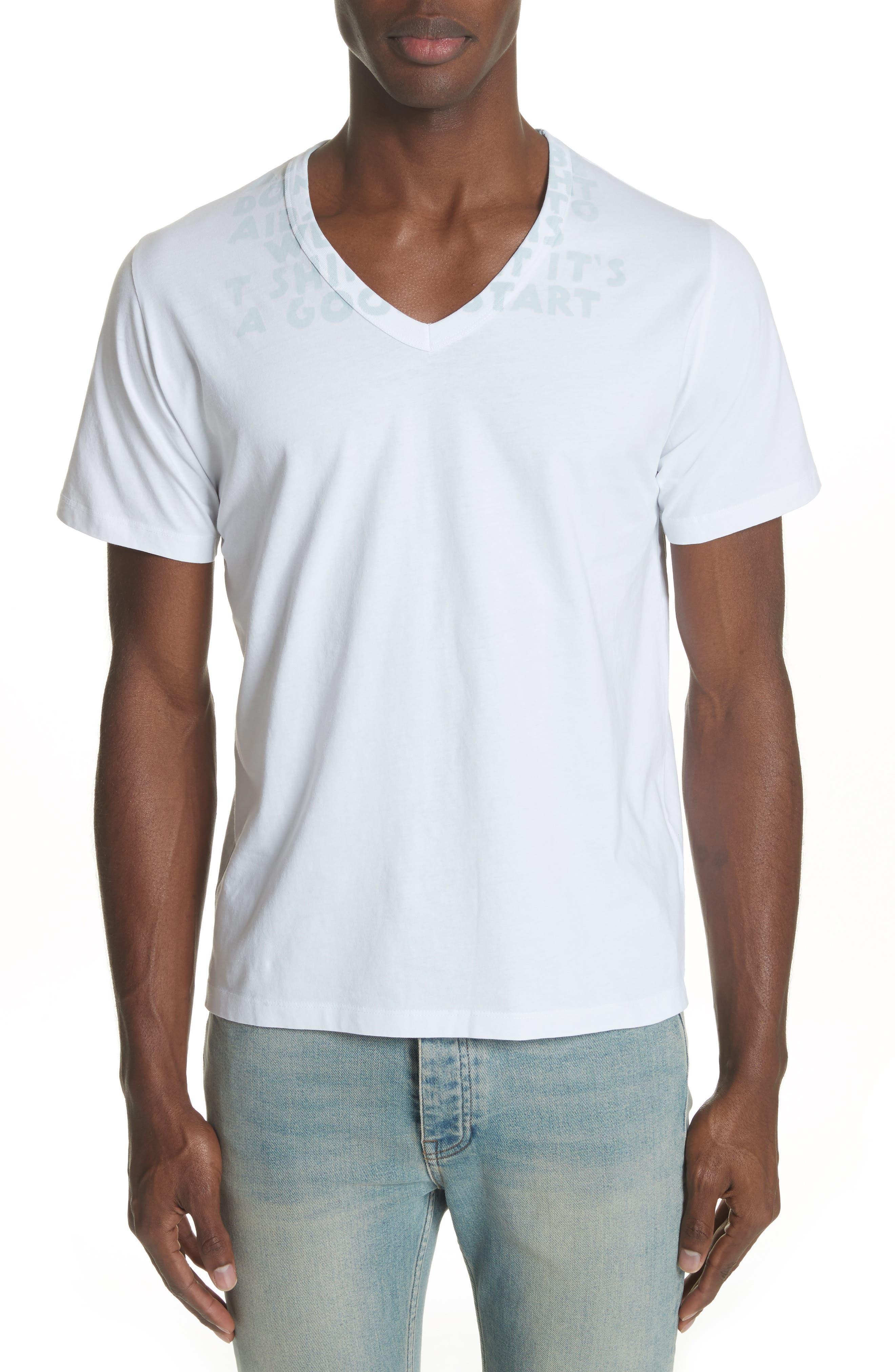 Alternate Image 1 Selected - Maison Margiela V-Neck T-Shirt