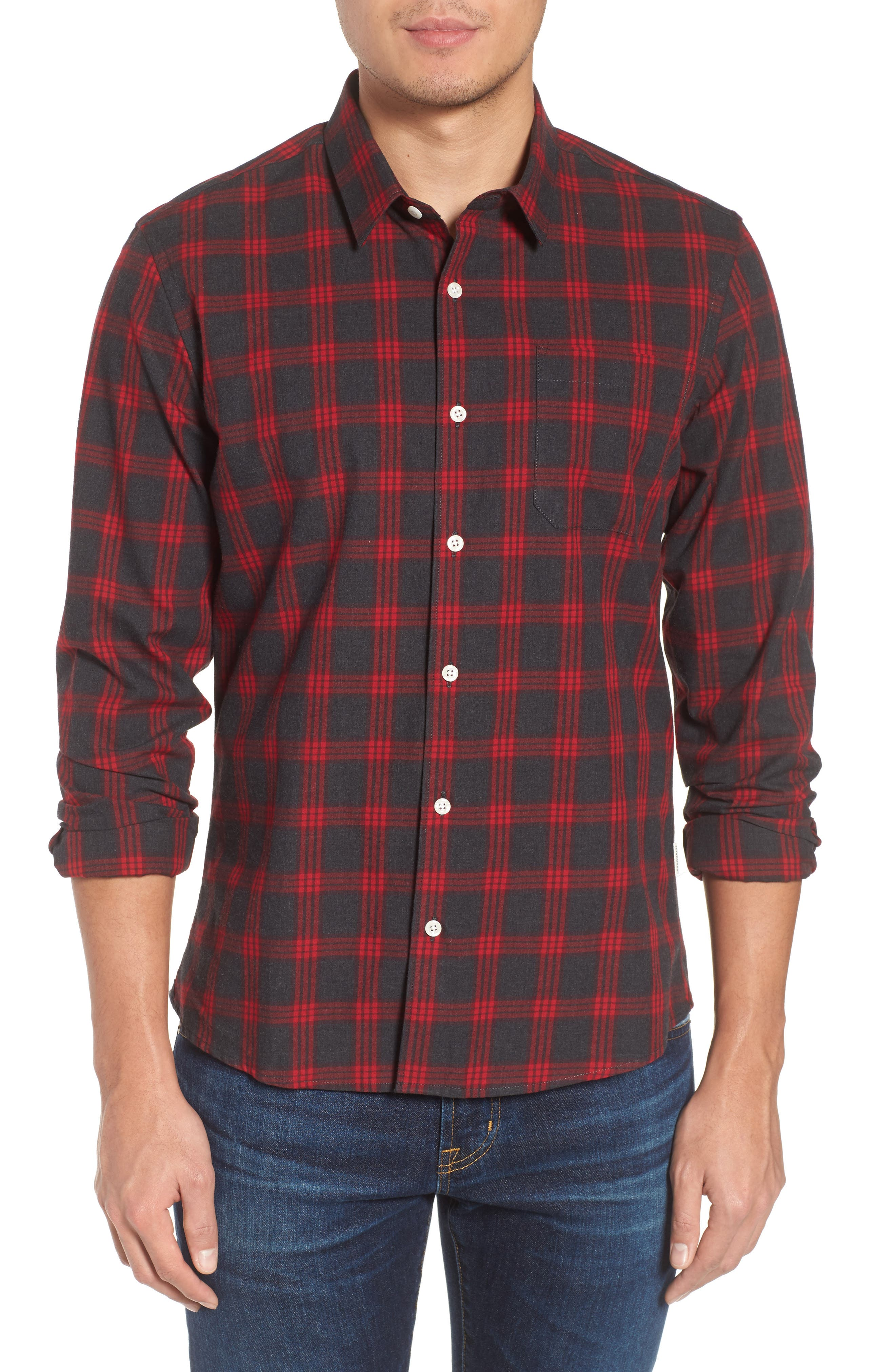 Rose Golden Woven Shirt,                         Main,                         color, Red
