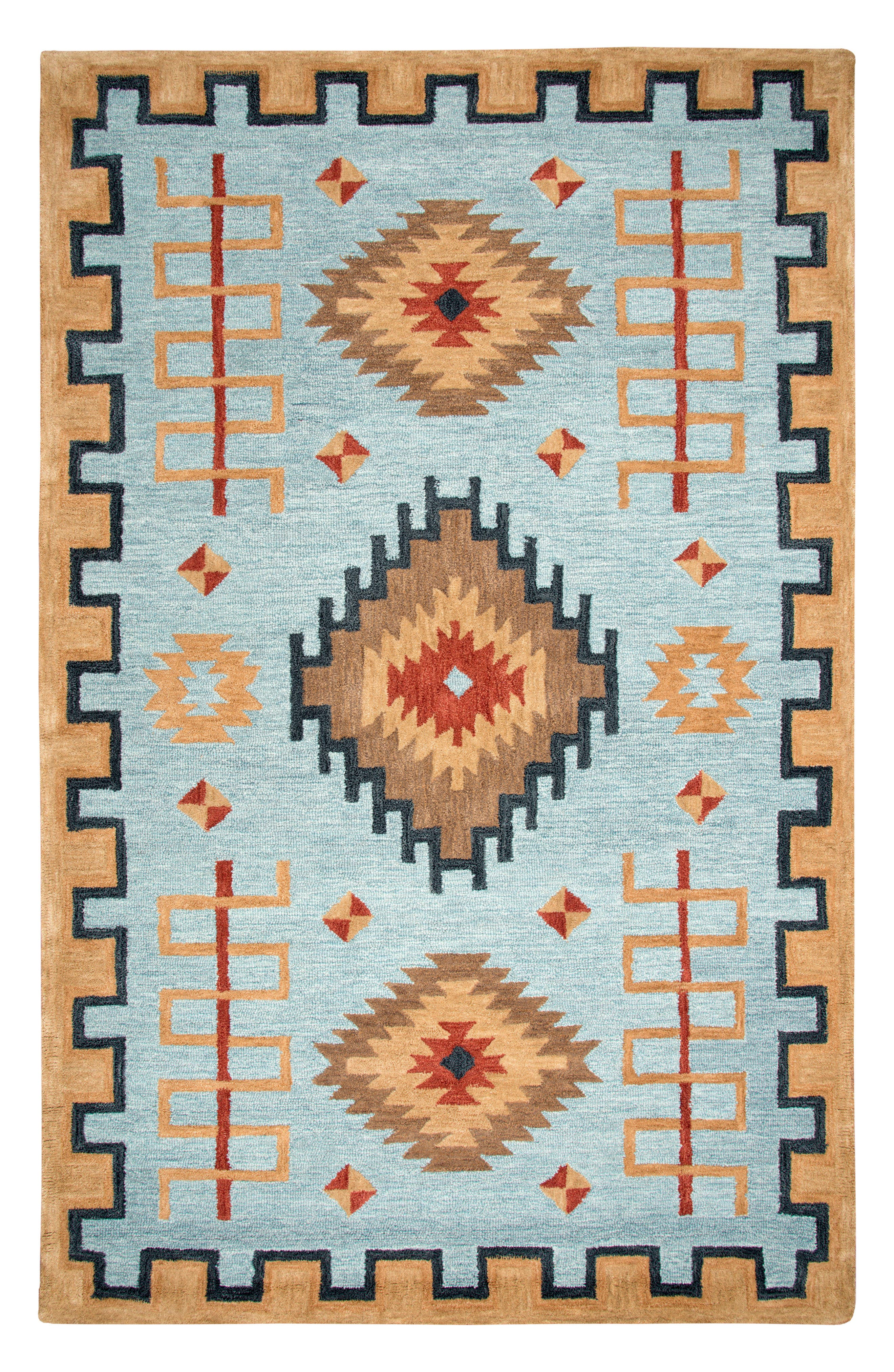 Mesa Valley Ranch Rug,                             Main thumbnail 1, color,                             Light Blue