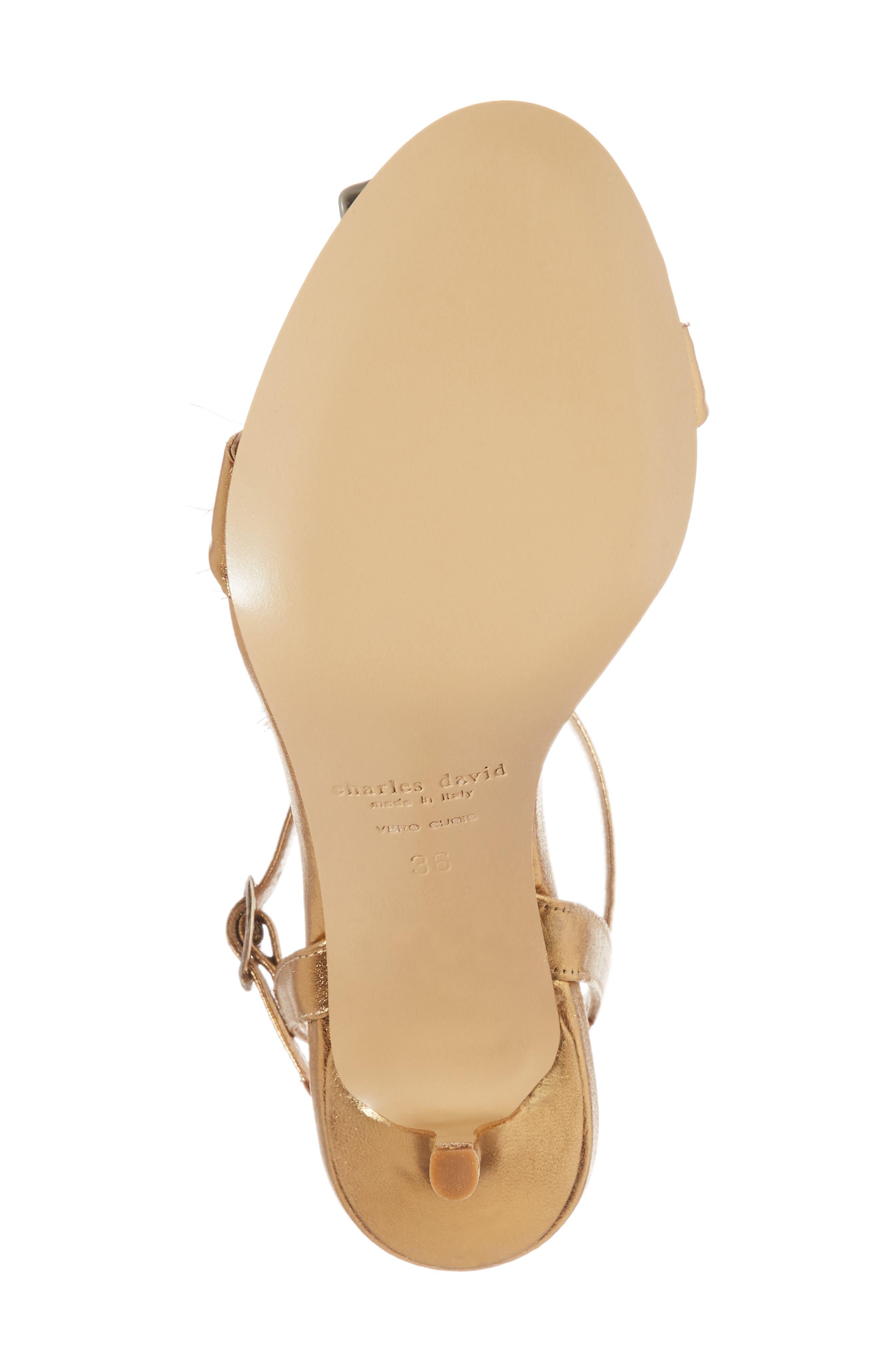 Sassy Tassel Sandal,                             Alternate thumbnail 6, color,                             Gold Leather