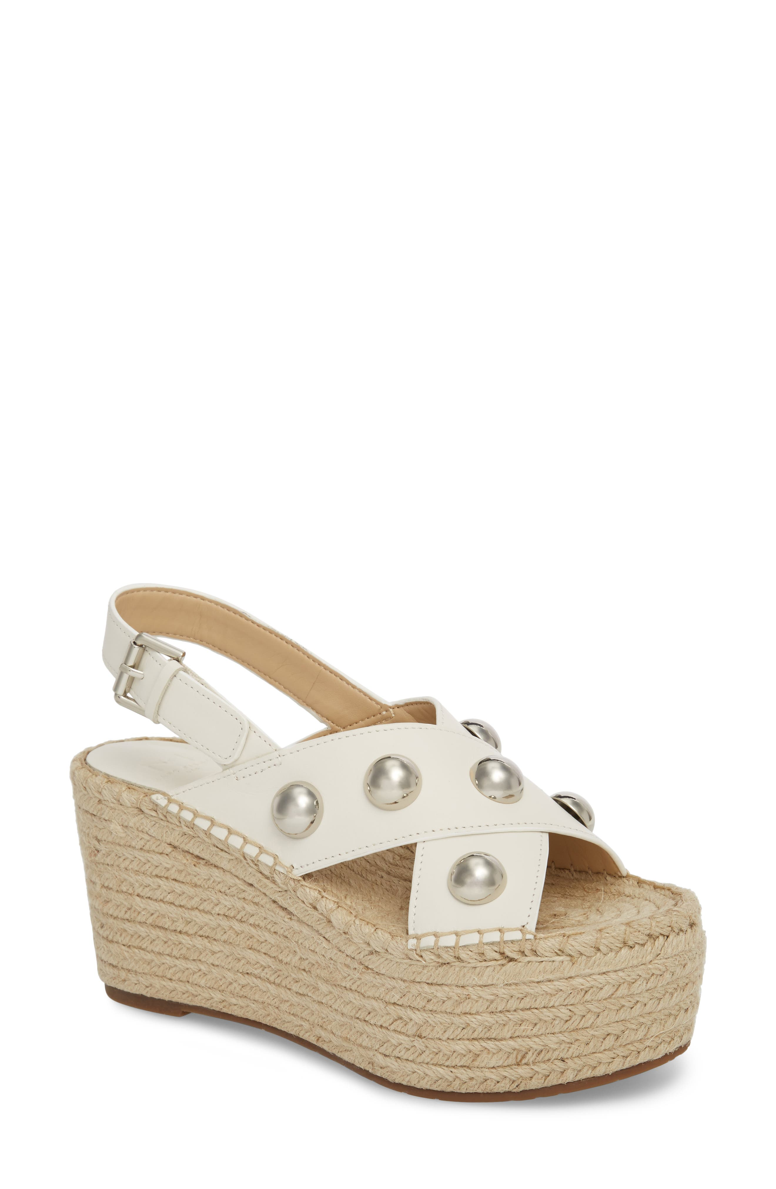 Rella Espadrille Platform Sandal,                         Main,                         color, Ivory Leather