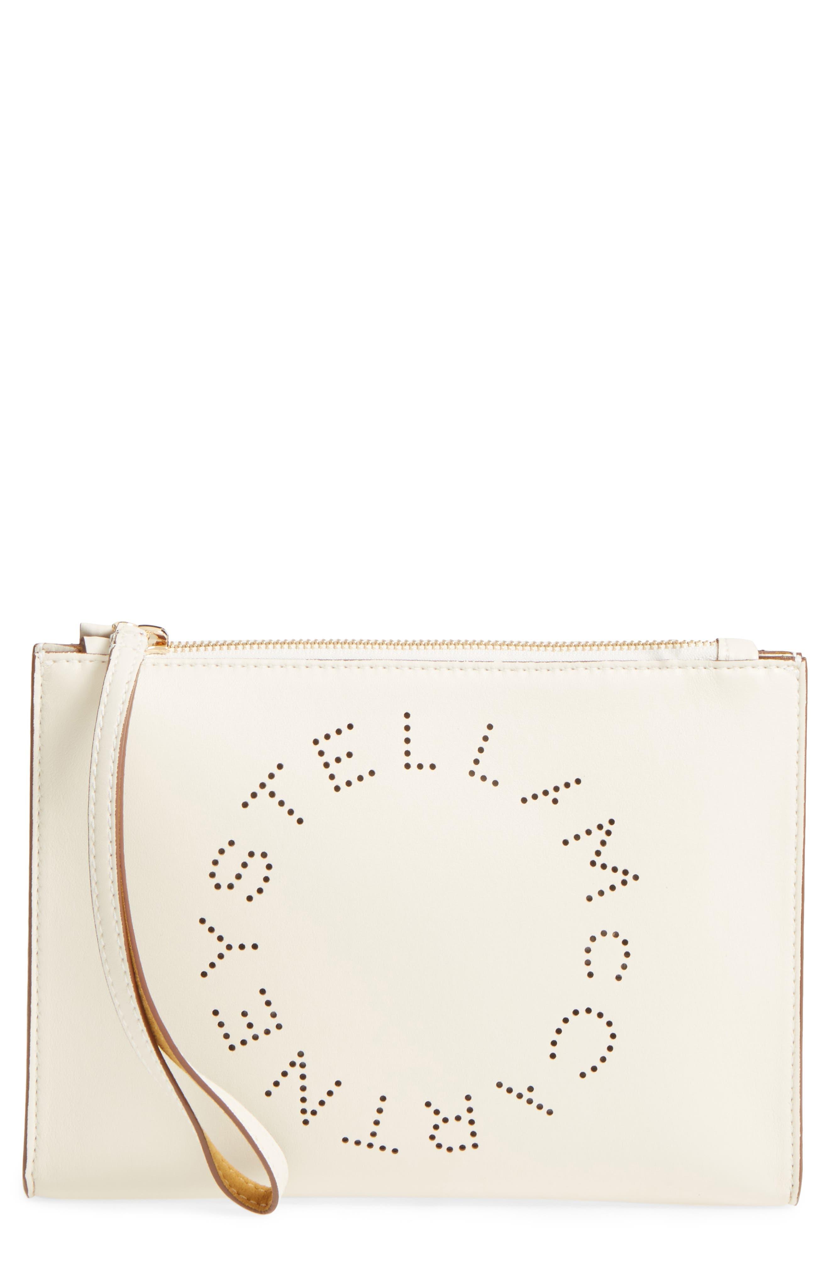 Main Image - Stella McCartney Alter Faux Nappa Leather Wristlet Clutch