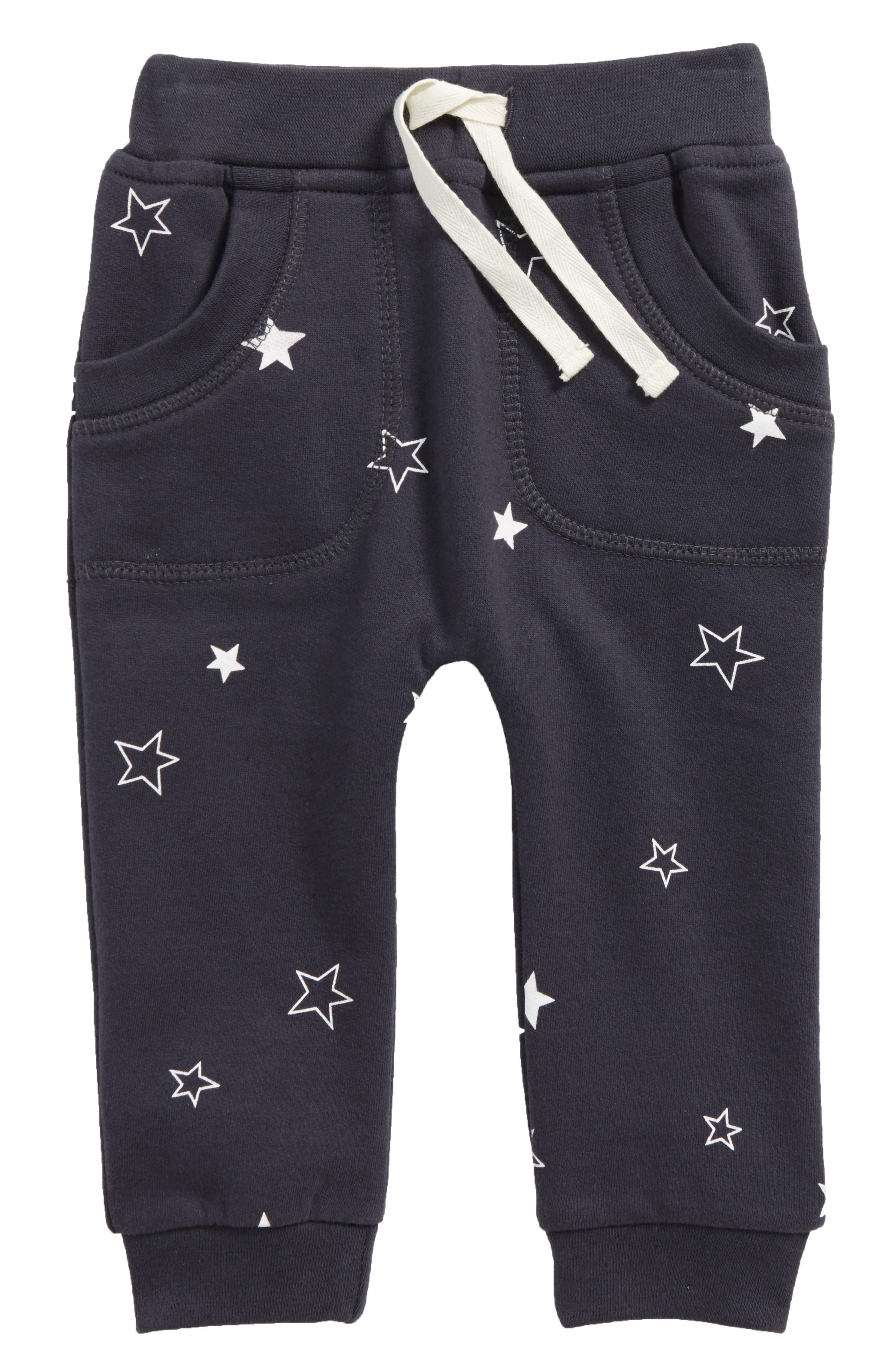 Alternate Image 1 Selected - City Mouse Star Print Organic Cotton Jogger Pants (Baby)
