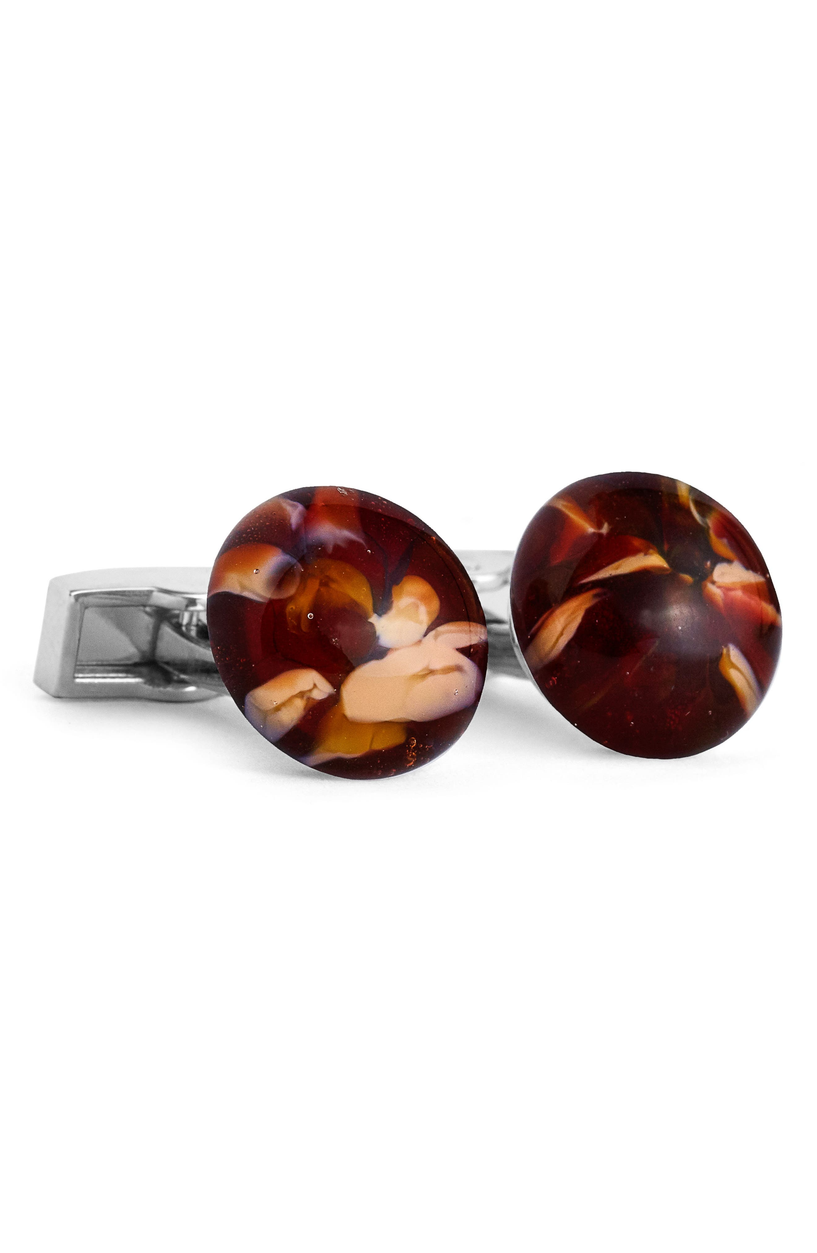 Cuff Links,                             Main thumbnail 1, color,                             Brown Multi