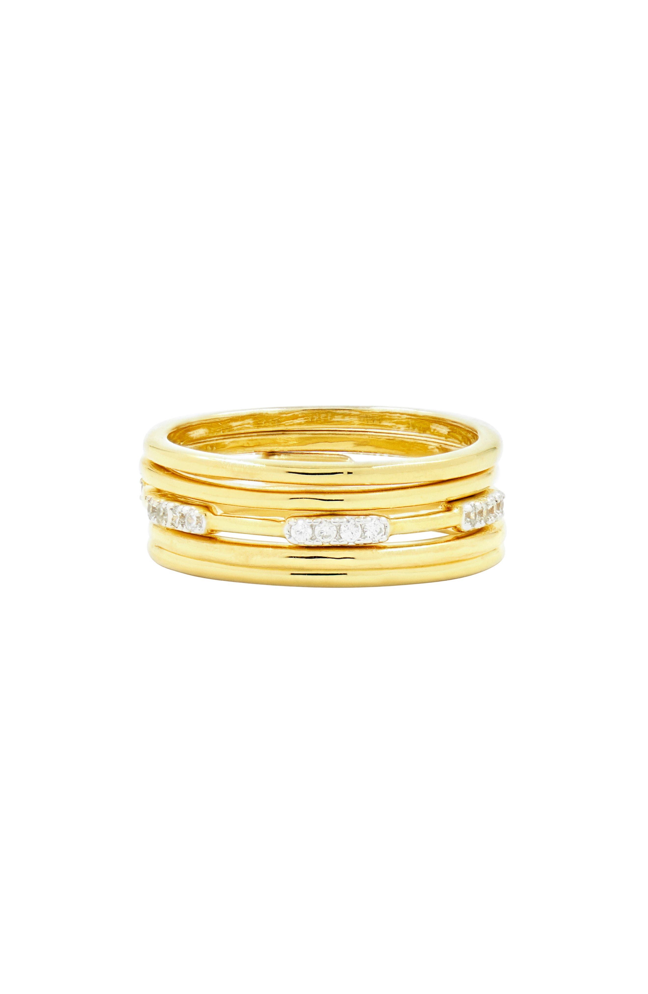 Radiance Stacking Ring,                             Main thumbnail 1, color,                             Silver/ Gold