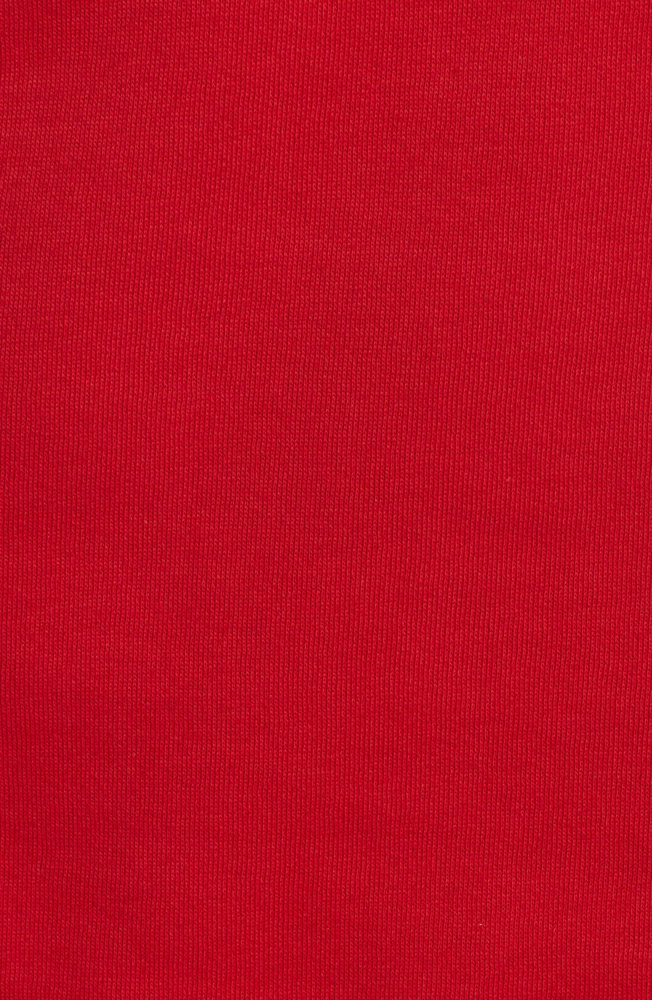 Logo Sweatshirt Tee,                             Alternate thumbnail 5, color,                             Torch Red