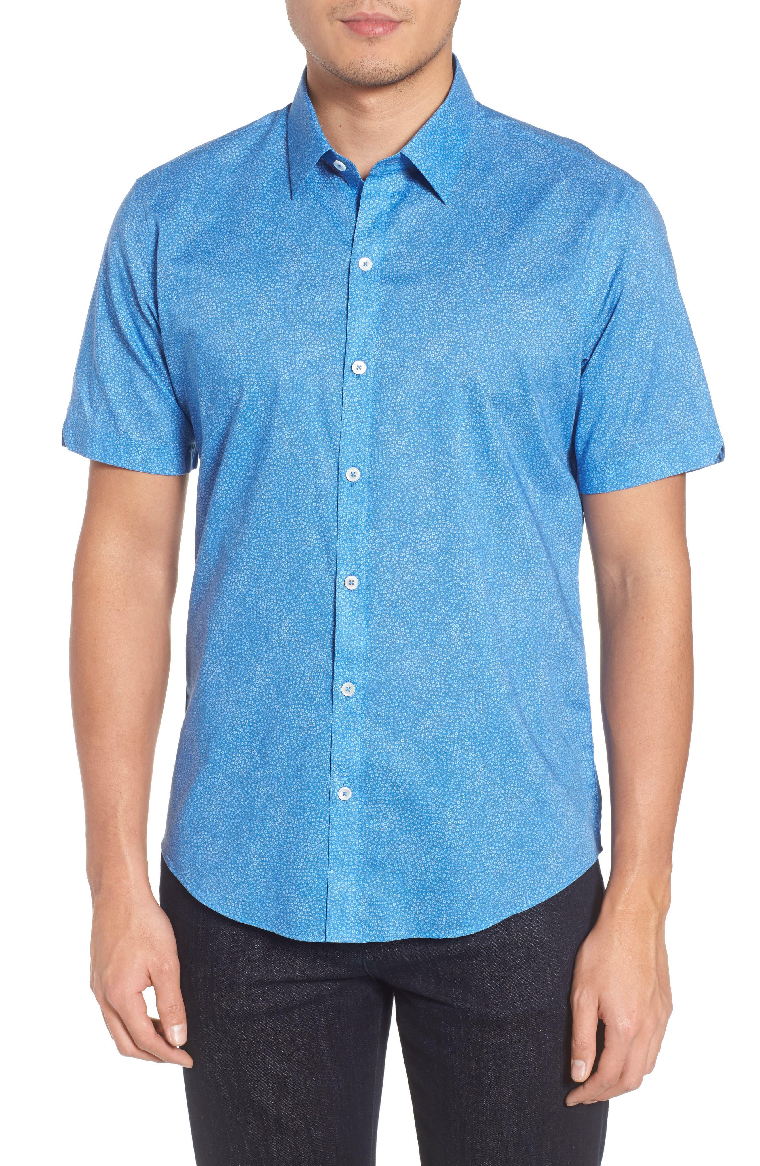 Zachary Prell Siguenza Floral Short Sleeve Sport Shirt