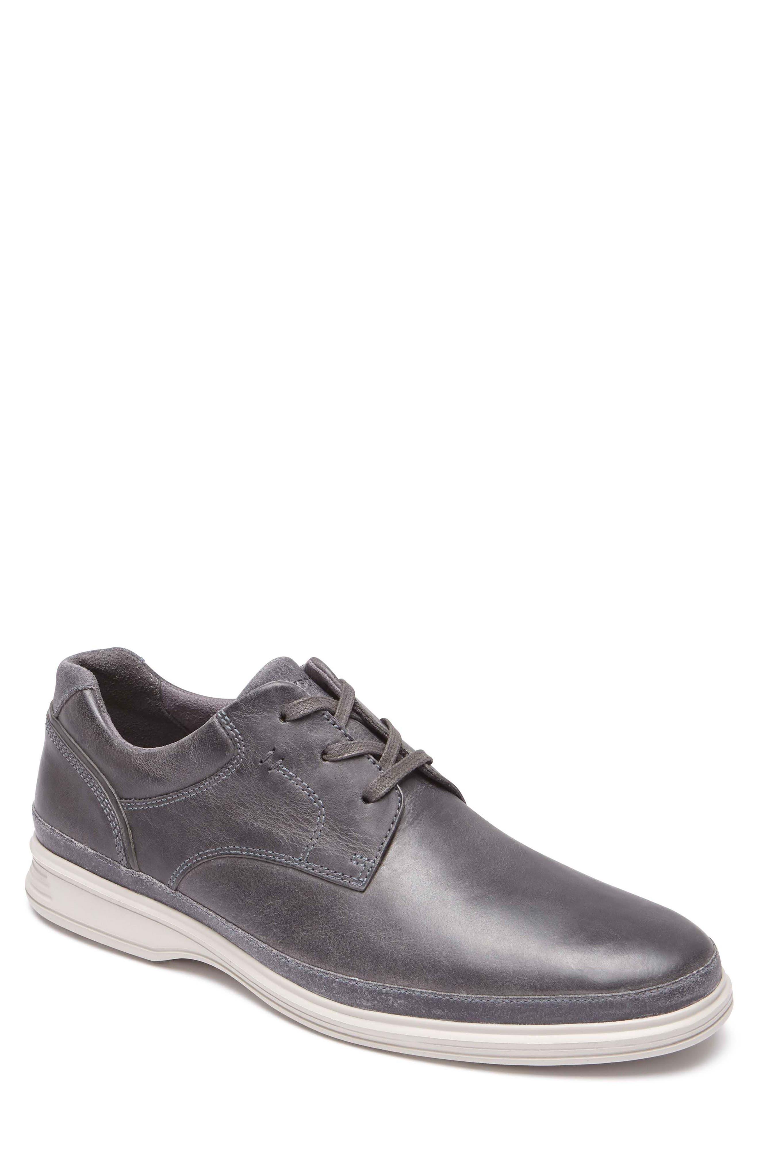 Dressports 2 Go Plain Toe Derby,                             Main thumbnail 1, color,                             Grey Leather