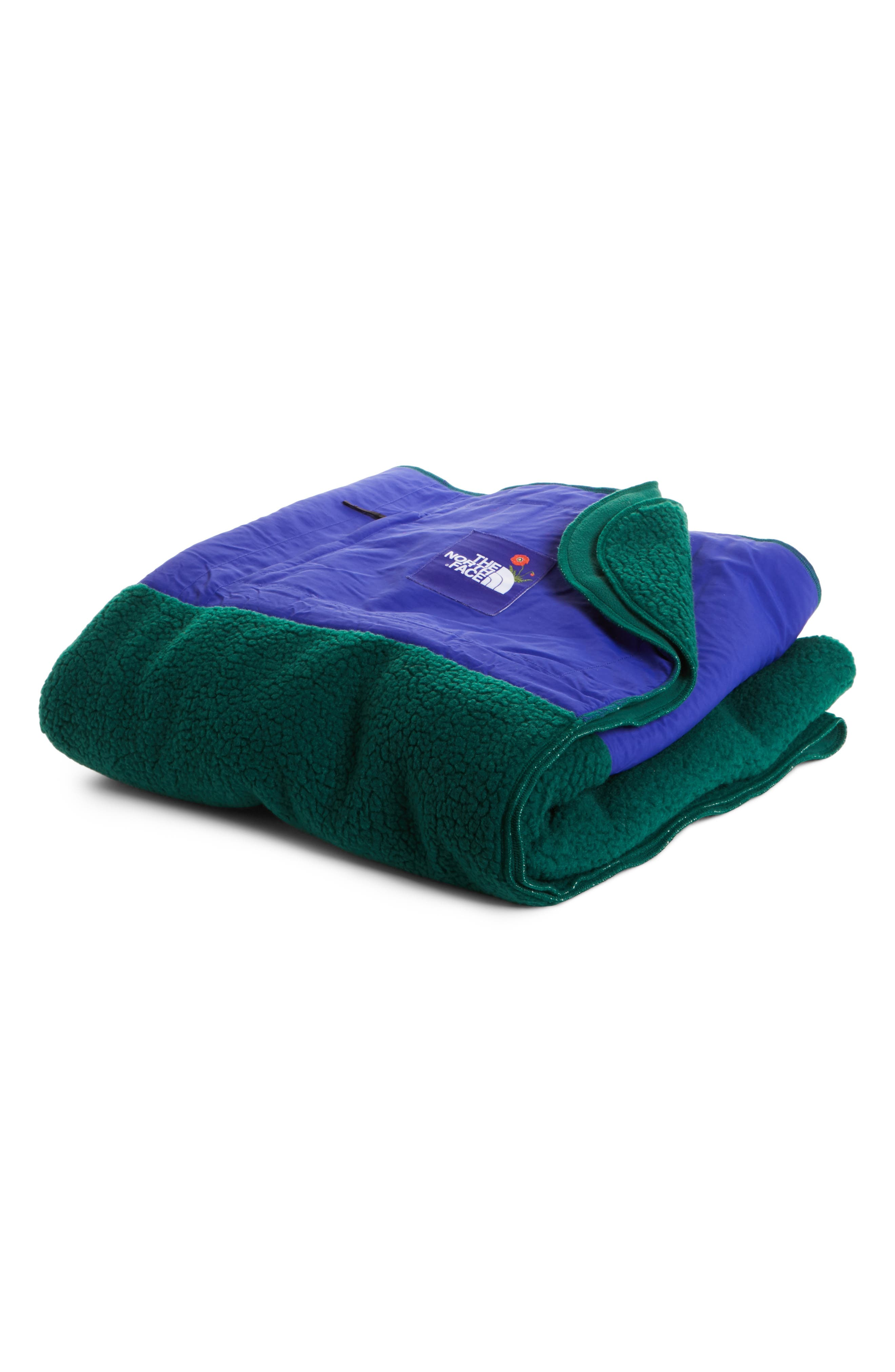 Blanket,                             Main thumbnail 1, color,                             Night Green