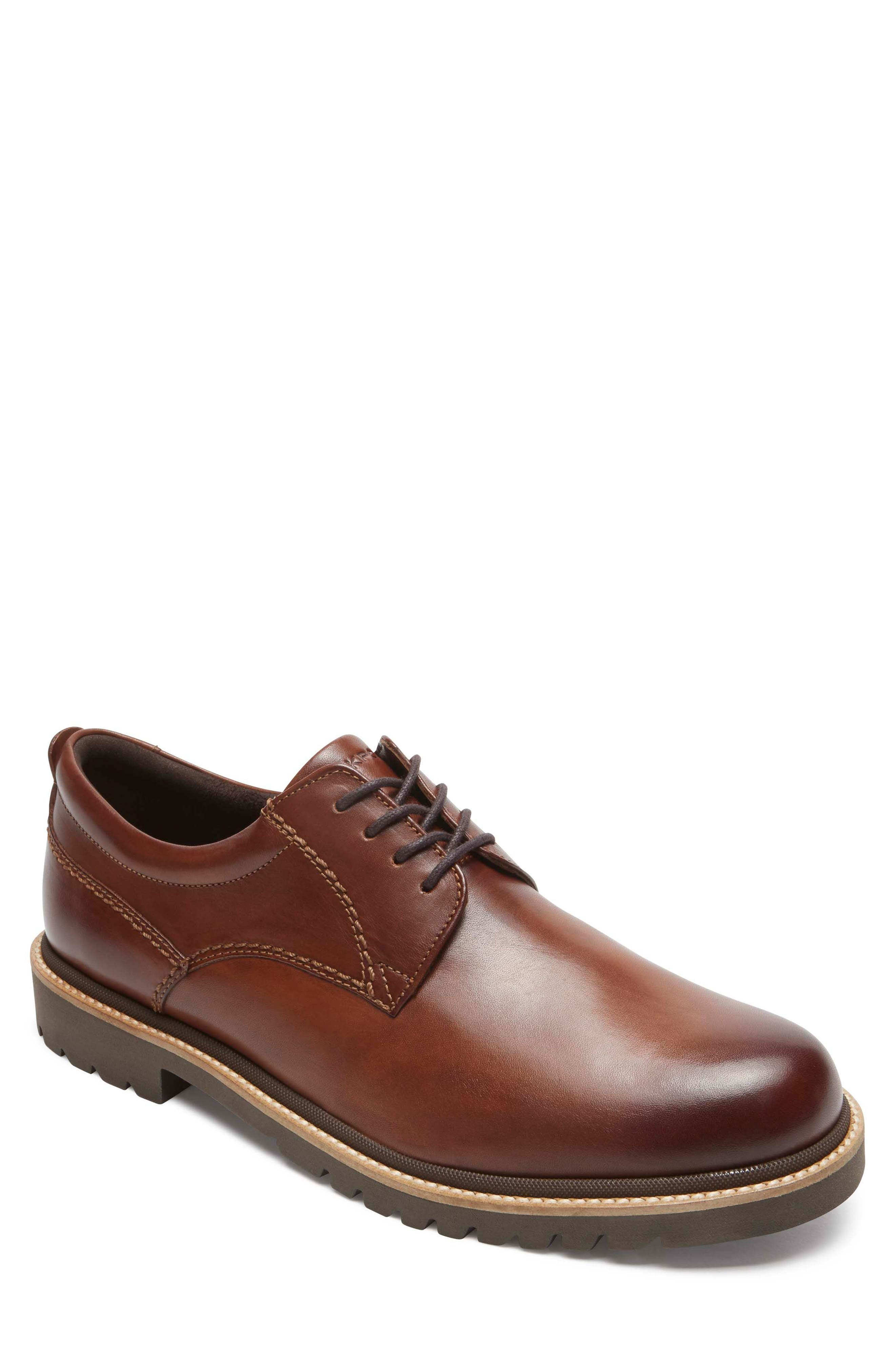 Marshall Buck Shoe,                             Main thumbnail 1, color,                             Dark Brown Leather