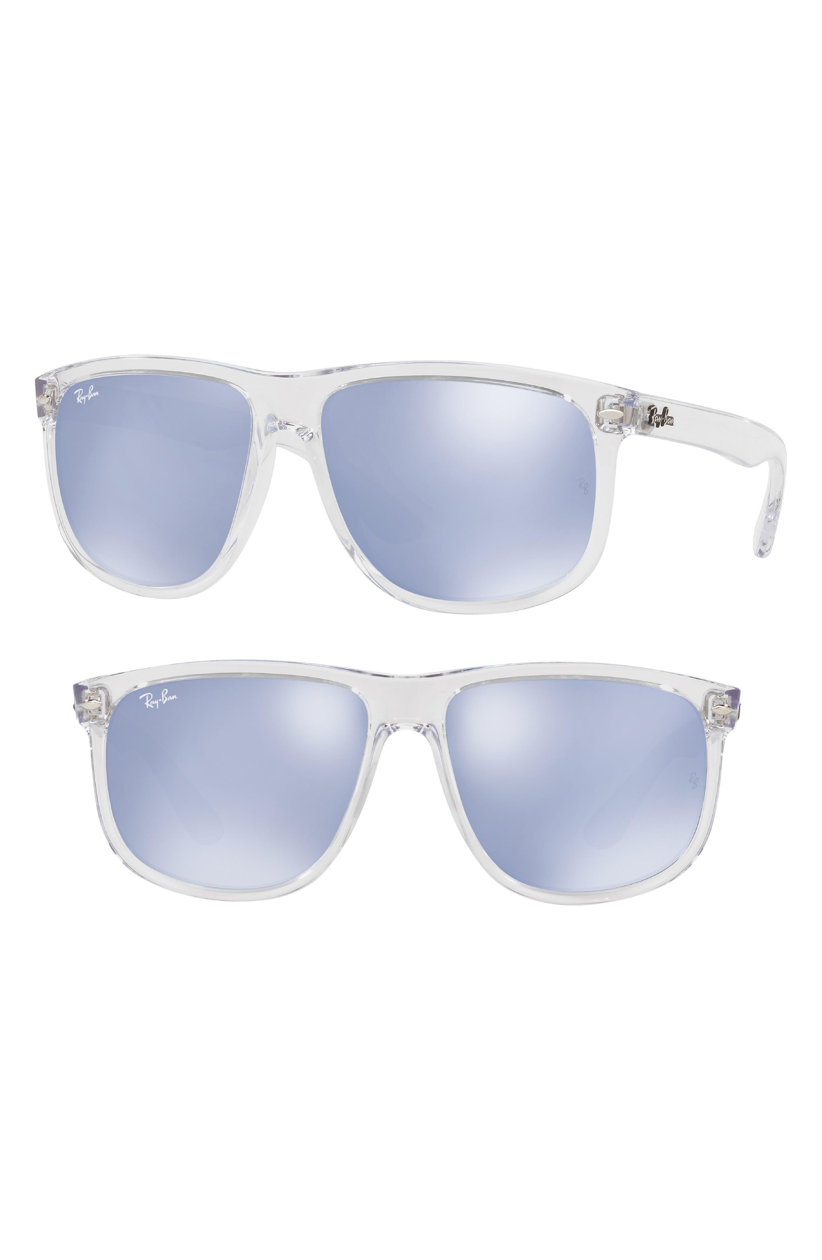 Ray-Ban 60mm Mirrored Sunglasses