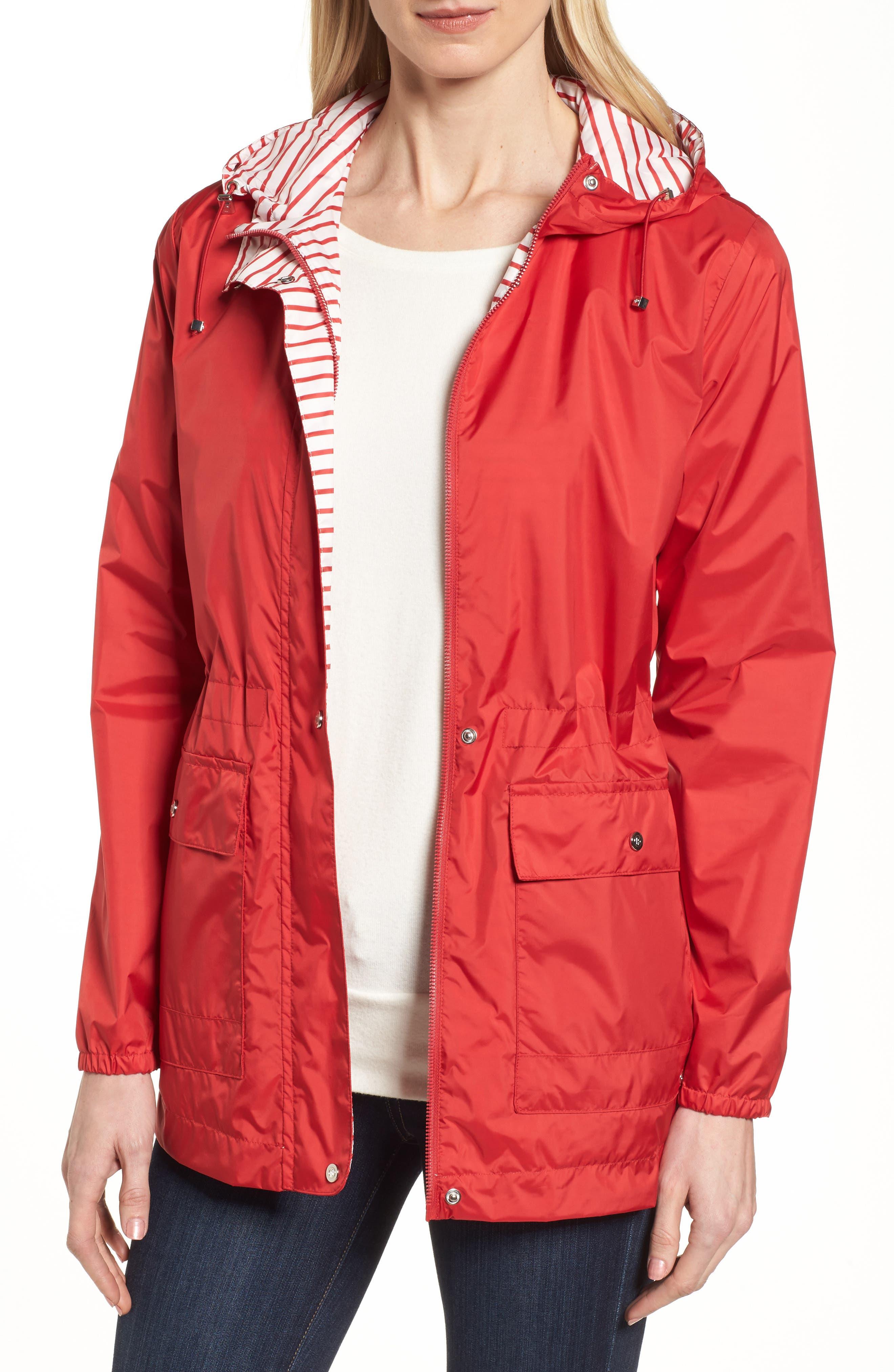 Bernardo Solid to Stripe Reversible Jacket