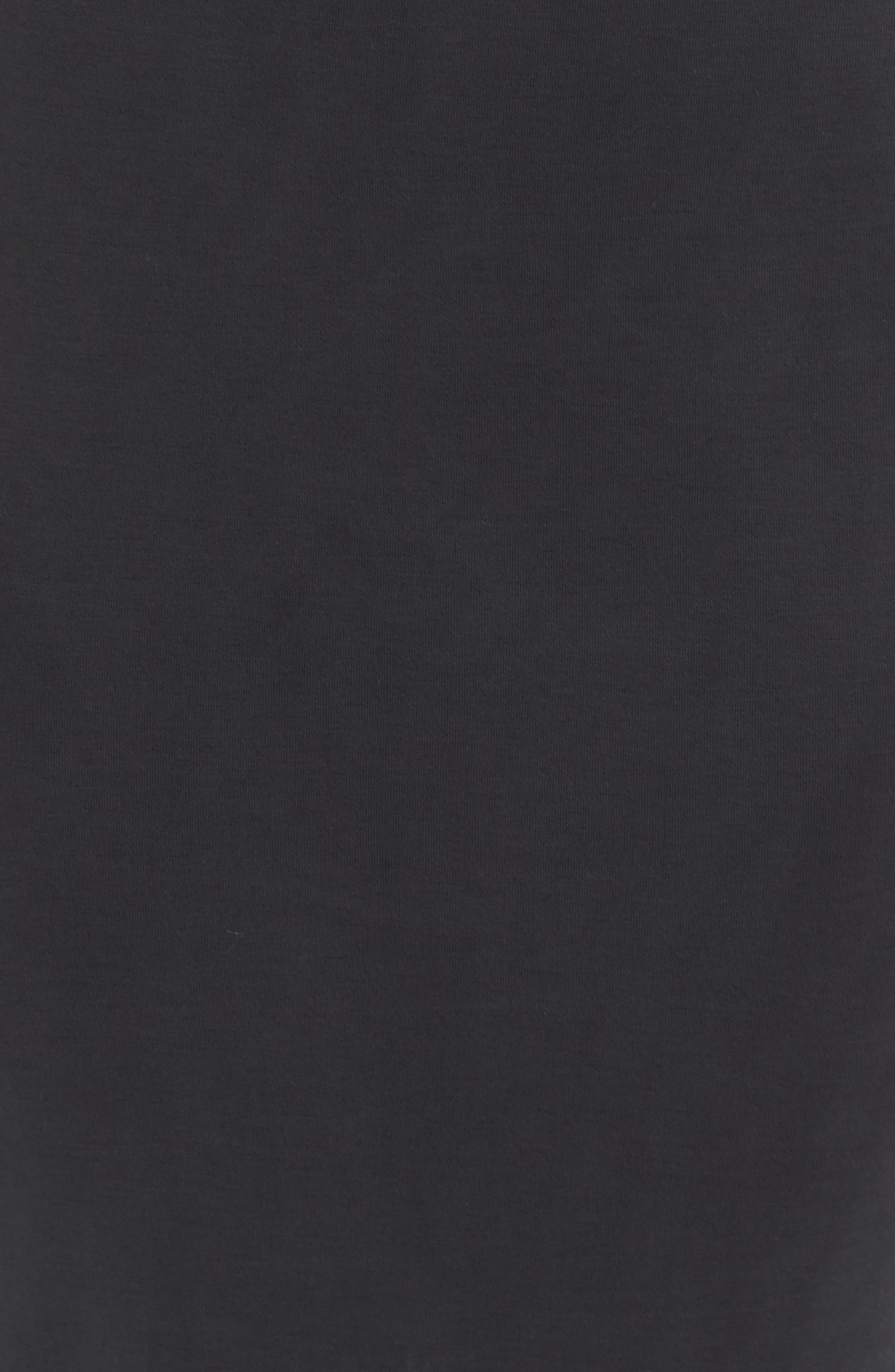 Gracie Cupro Body-Con Dress,                             Alternate thumbnail 5, color,                             Black