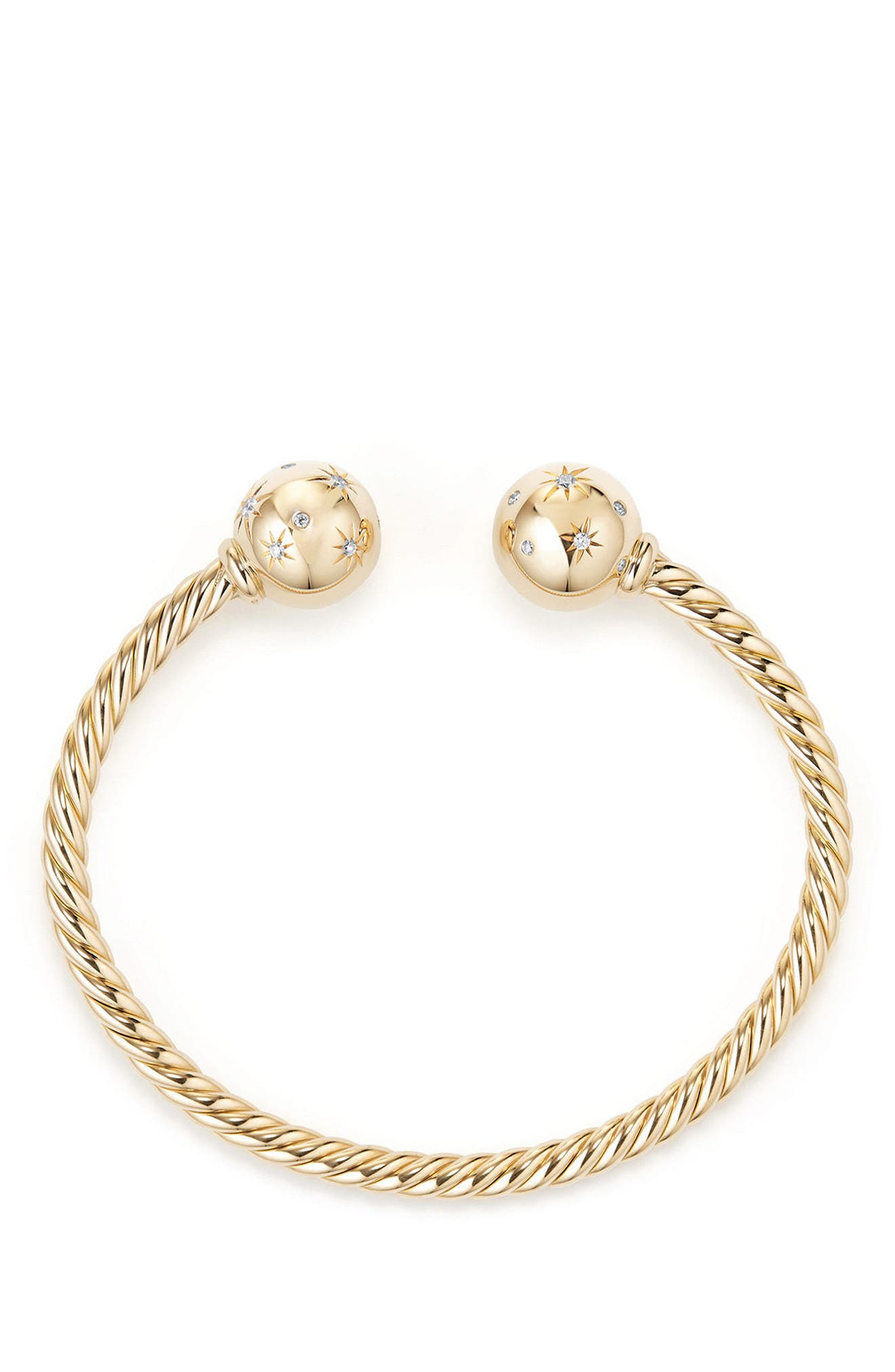 Solari Bead Bracelet with Diamonds in 18K Gold,                             Alternate thumbnail 2, color,                             Yellow Gold
