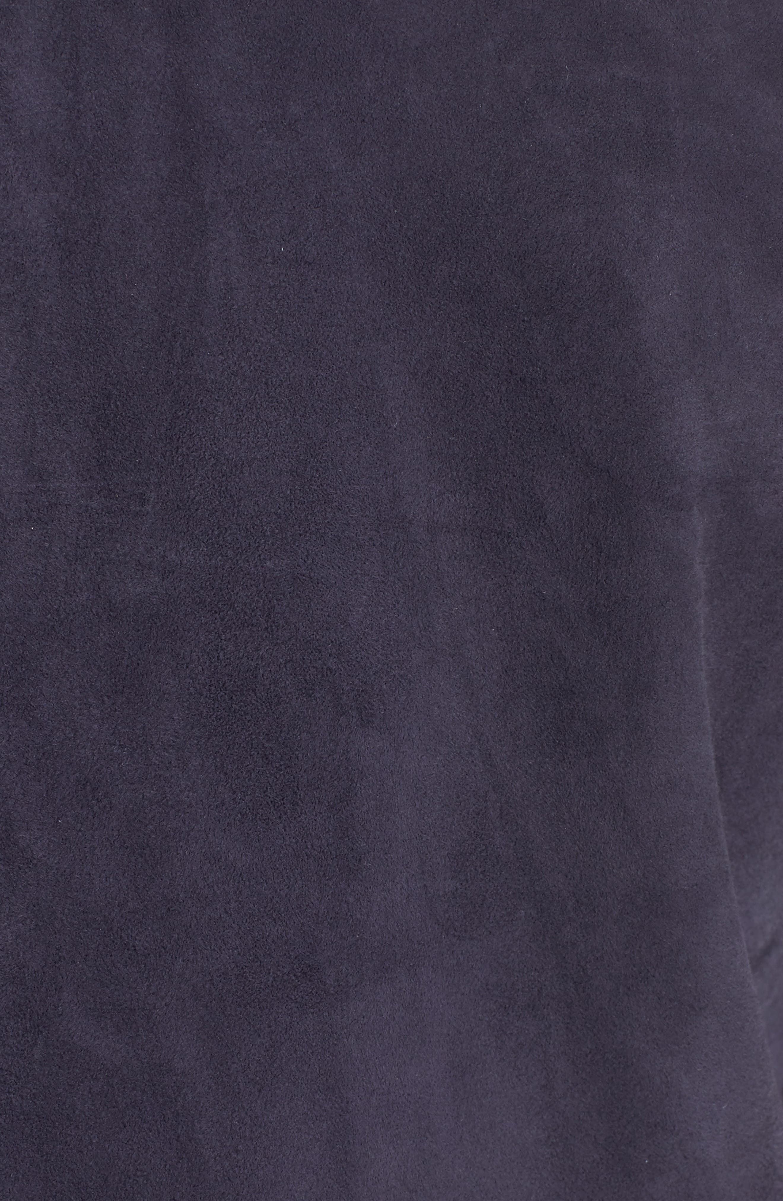 Suede Jacket,                             Alternate thumbnail 5, color,                             Royal Blue