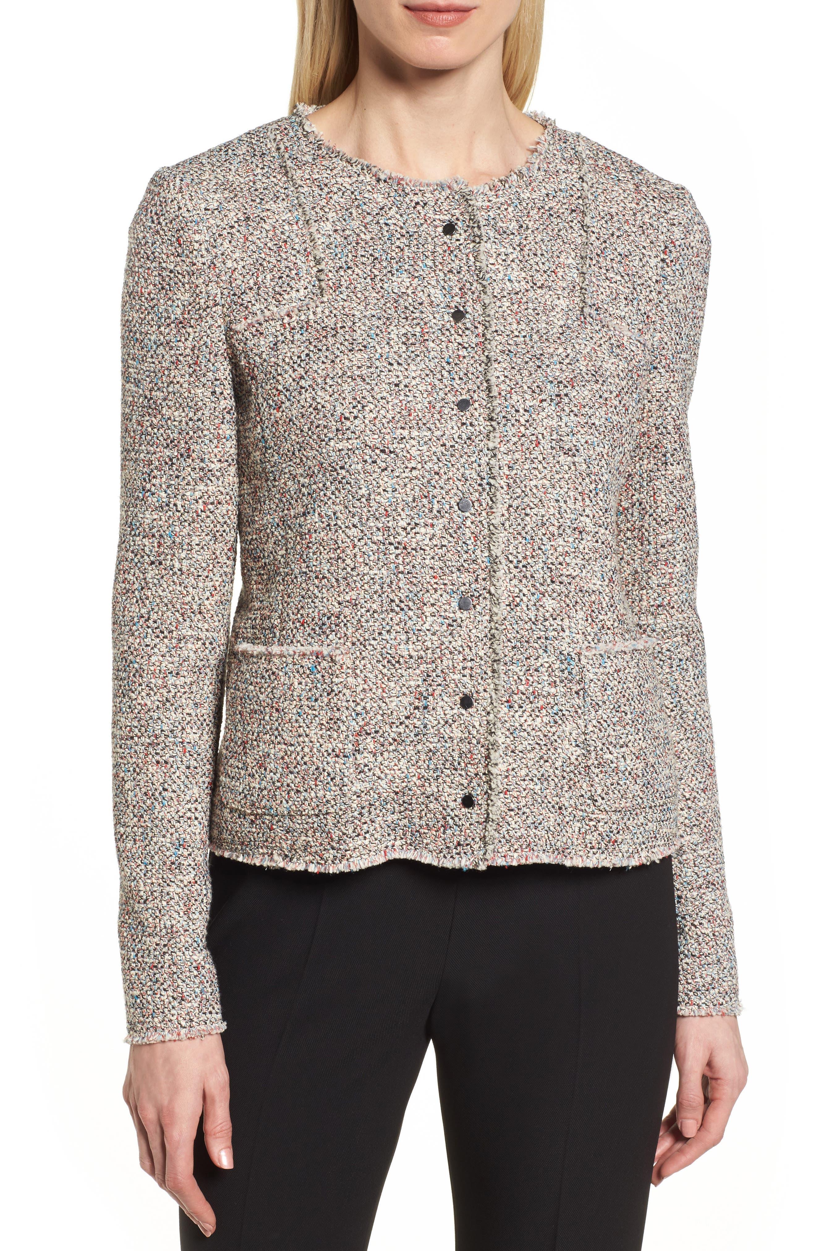 Alternate Image 4  - BOSS Koralie Tweed Jacket (Regular & Petite)