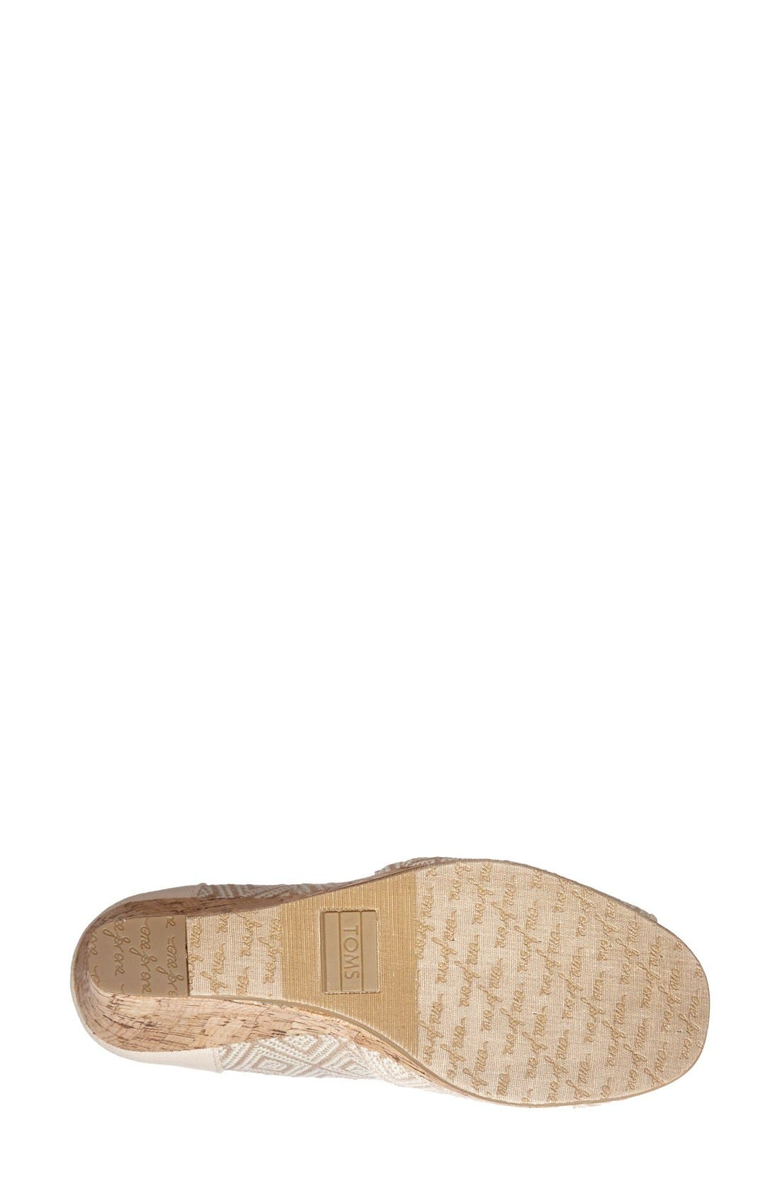 Alternate Image 4  - TOMS 'Classic' Woven Wedge Sandal (Women)