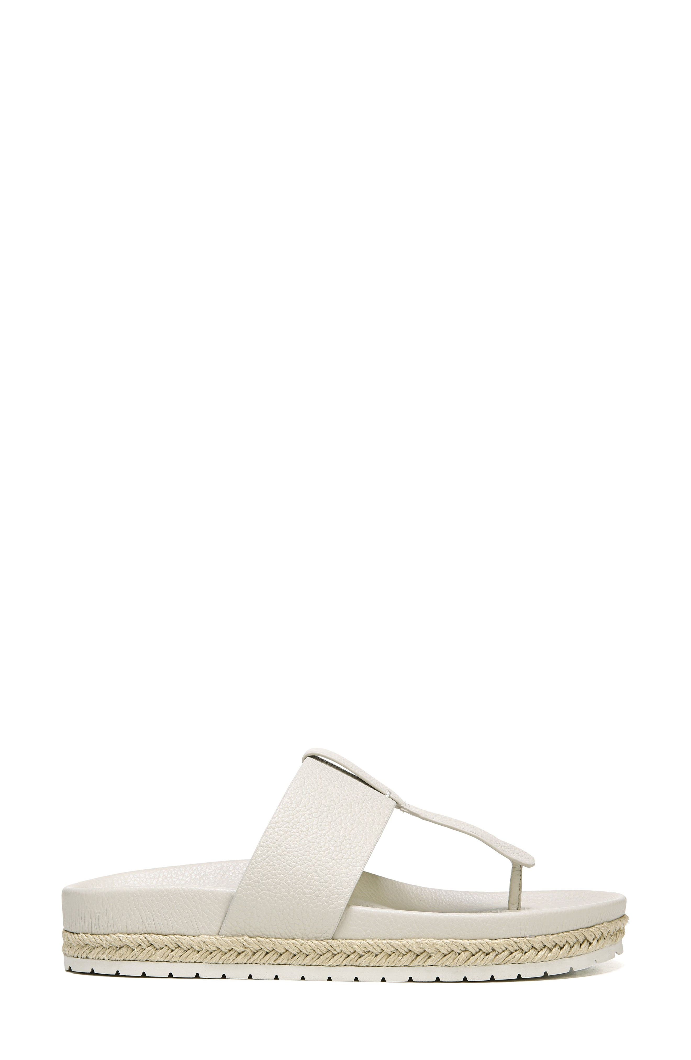 Avani T-Strap Flat Sandal,                             Alternate thumbnail 3, color,                             Oyster