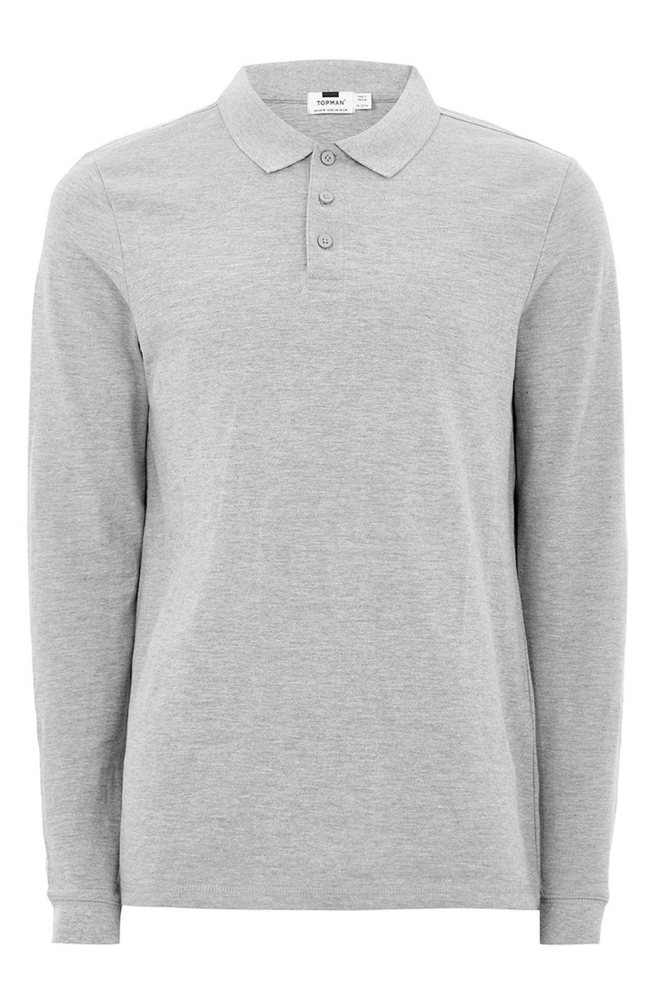 Alternate Image 4  - Topman Leon Muscle Fit Long Sleeve Polo
