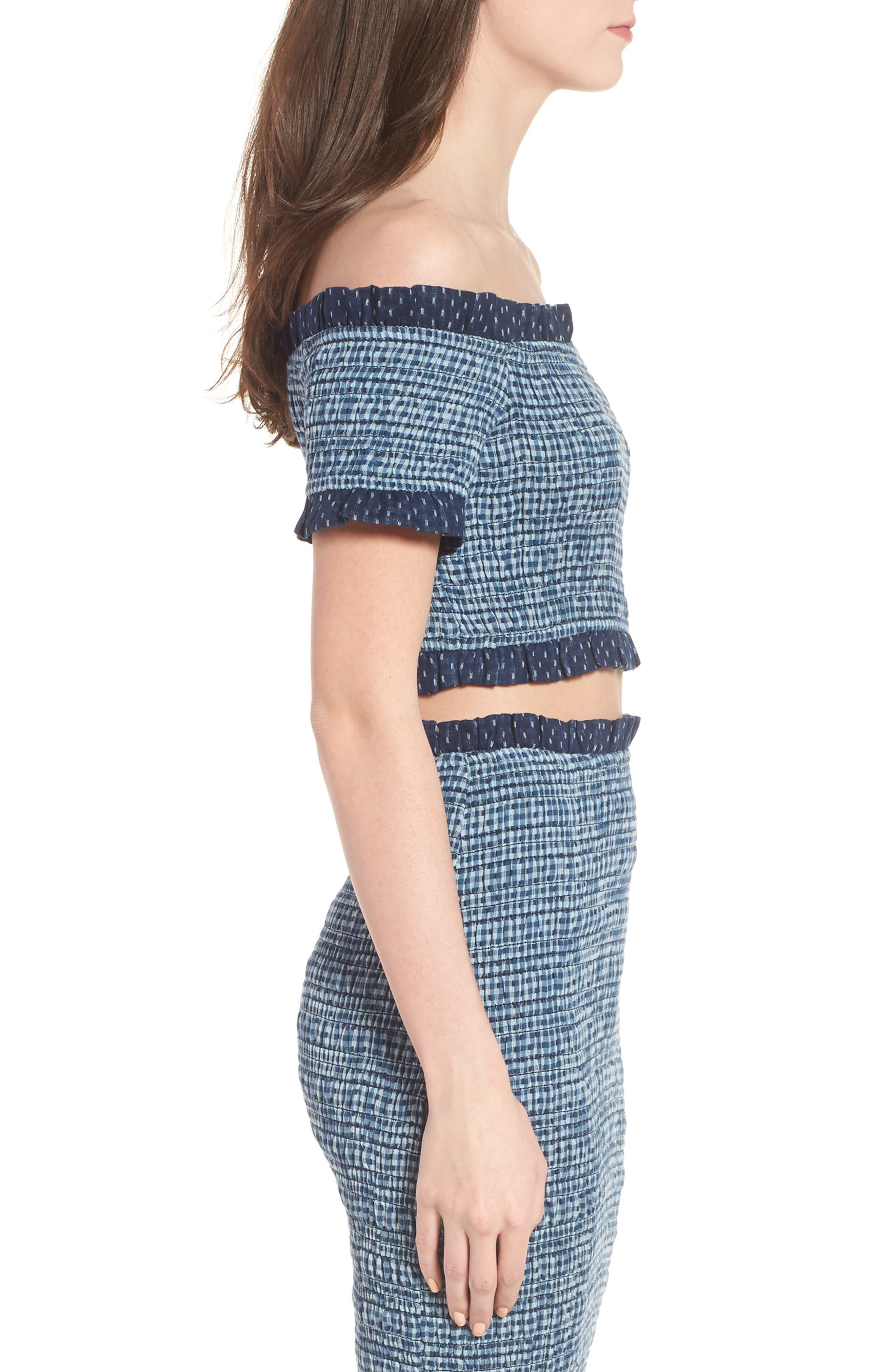 Alternate Image 3  - Tularosa Smocked Off the Shoulder Kylie Crop Top