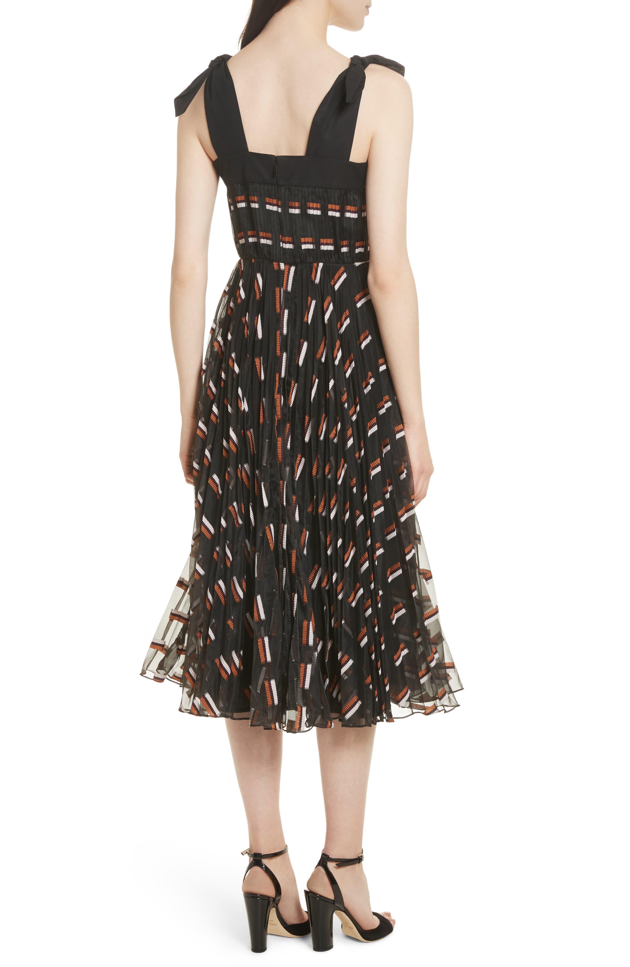 Fil Coupé Midi Dress,                             Alternate thumbnail 2, color,                             Ginger Multi