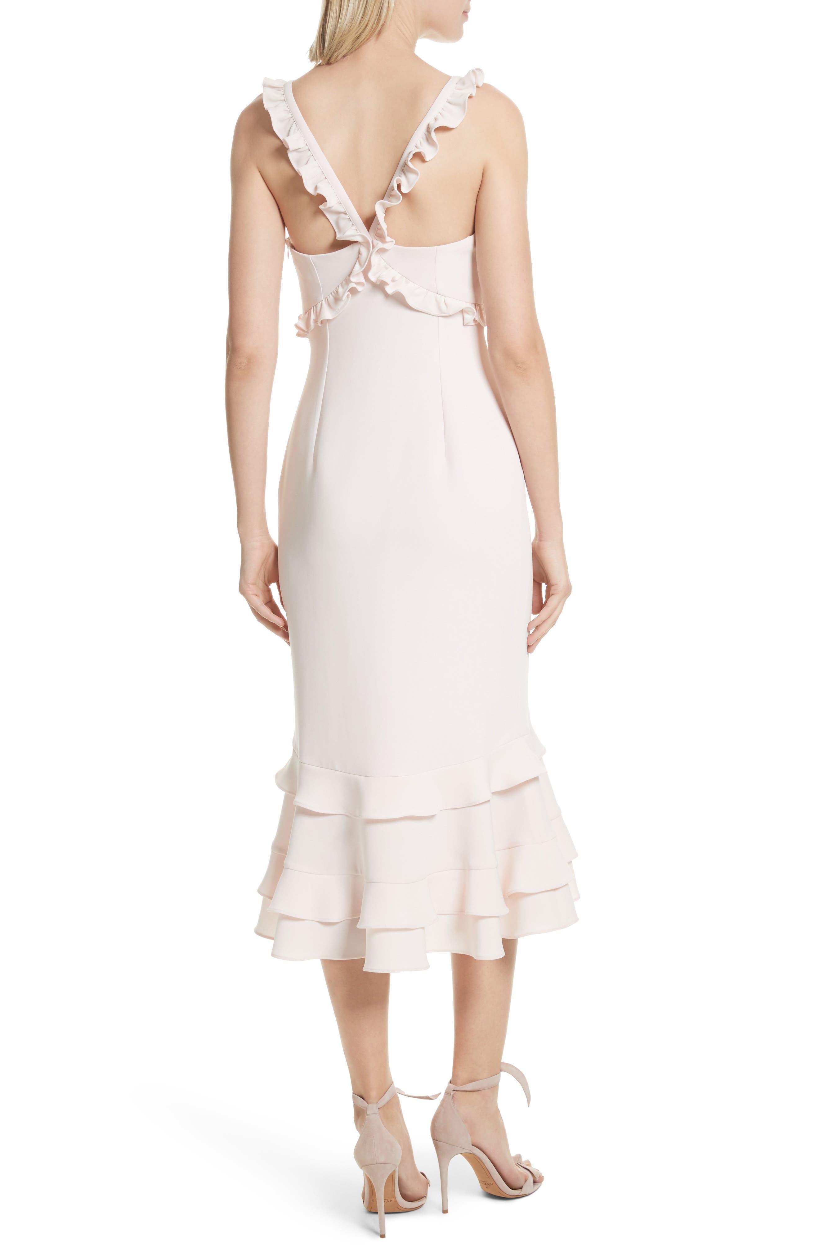 Kimora Ruffle Detail Dress,                             Alternate thumbnail 2, color,                             Pearl Blush