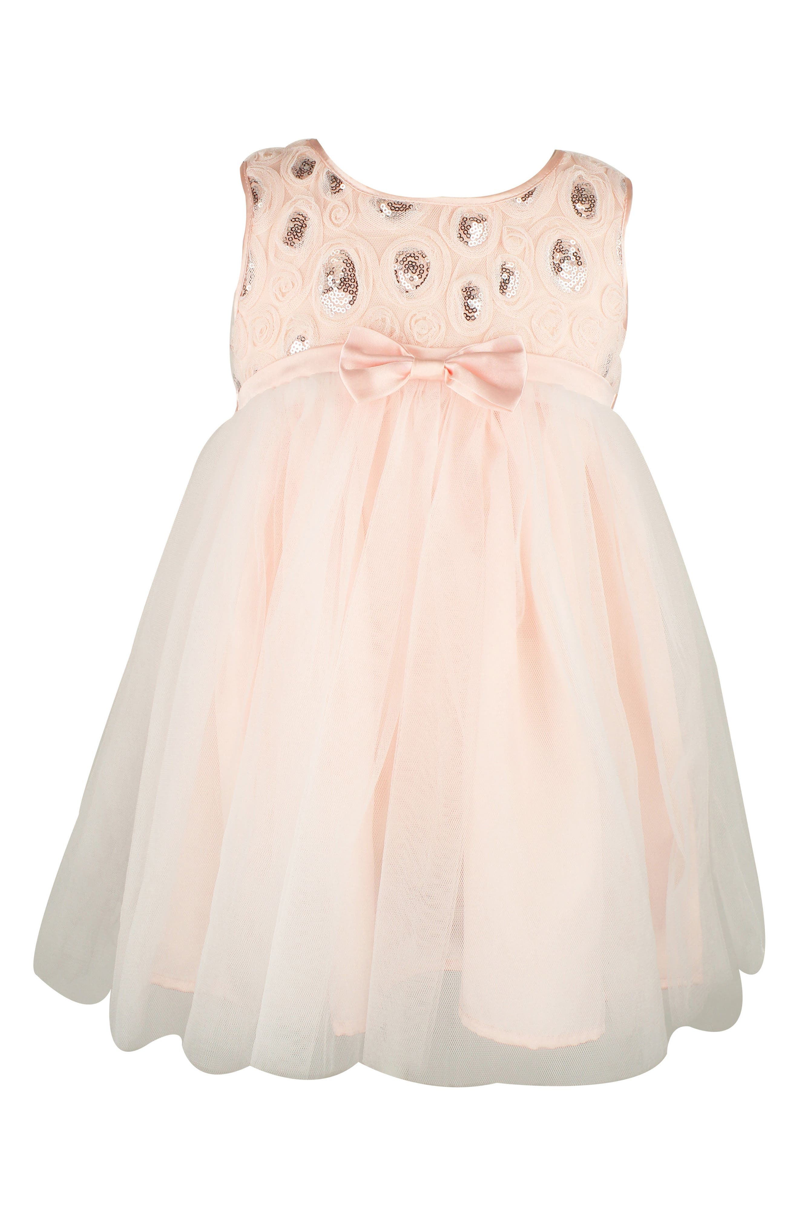 Sequin Tulle Dress,                         Main,                         color, Pink