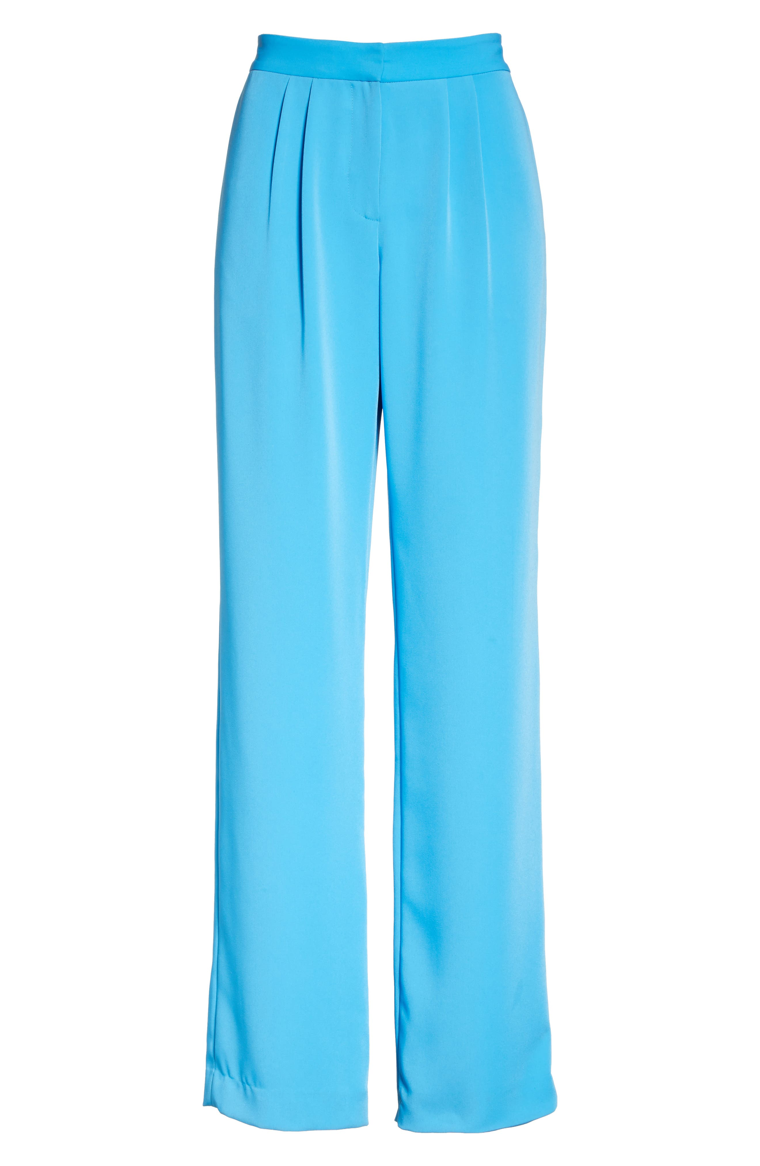 Soft Pleated Trousers,                             Alternate thumbnail 6, color,                             Malibu