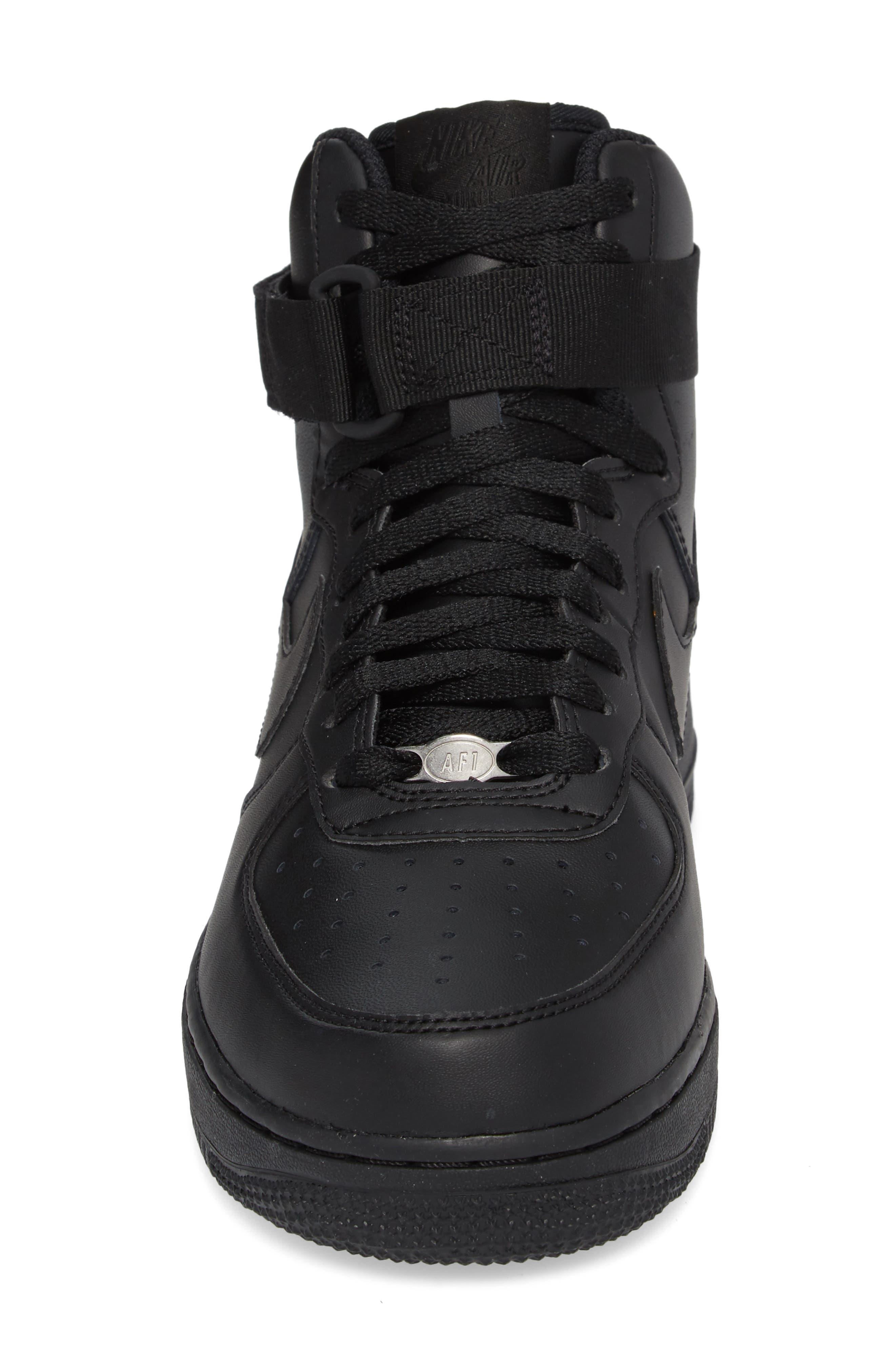 Air Force 1 High '07 Sneaker,                             Alternate thumbnail 4, color,                             Black/ Black