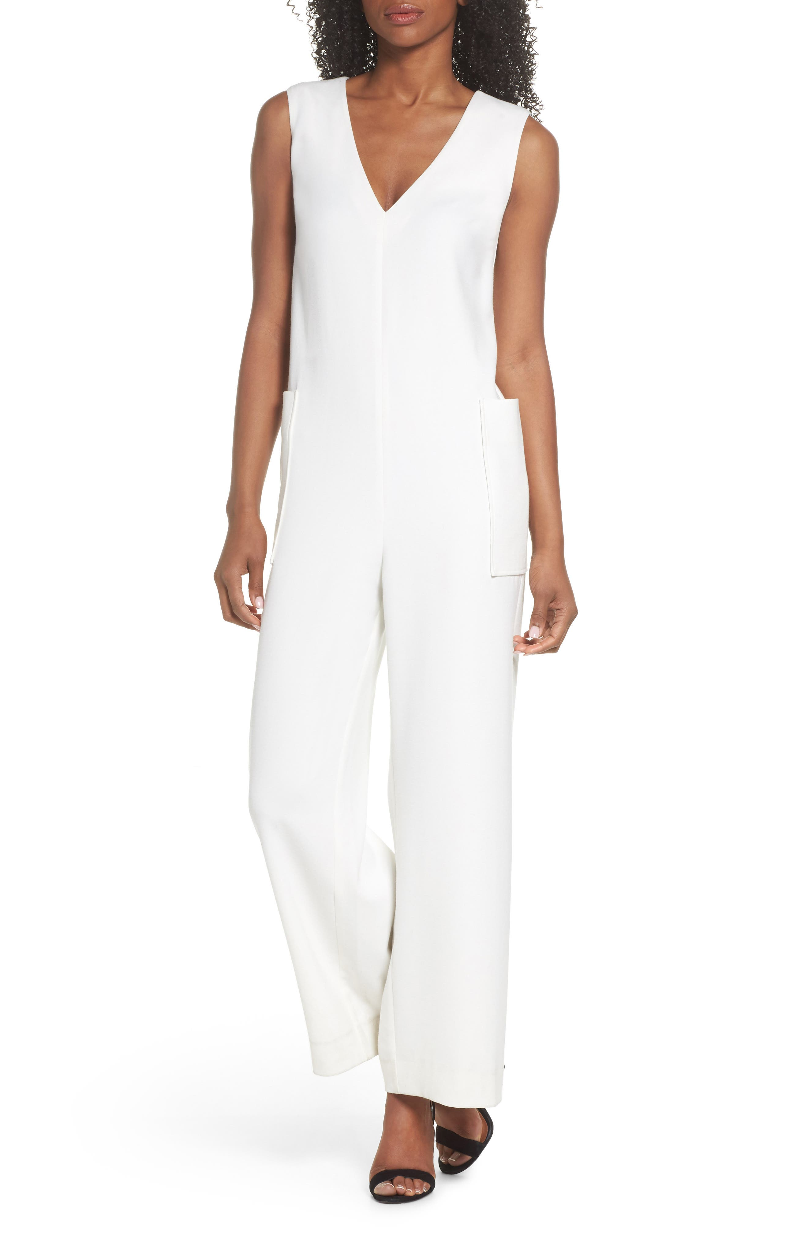 Harbor Sleeveless Jumpsuit,                         Main,                         color, White