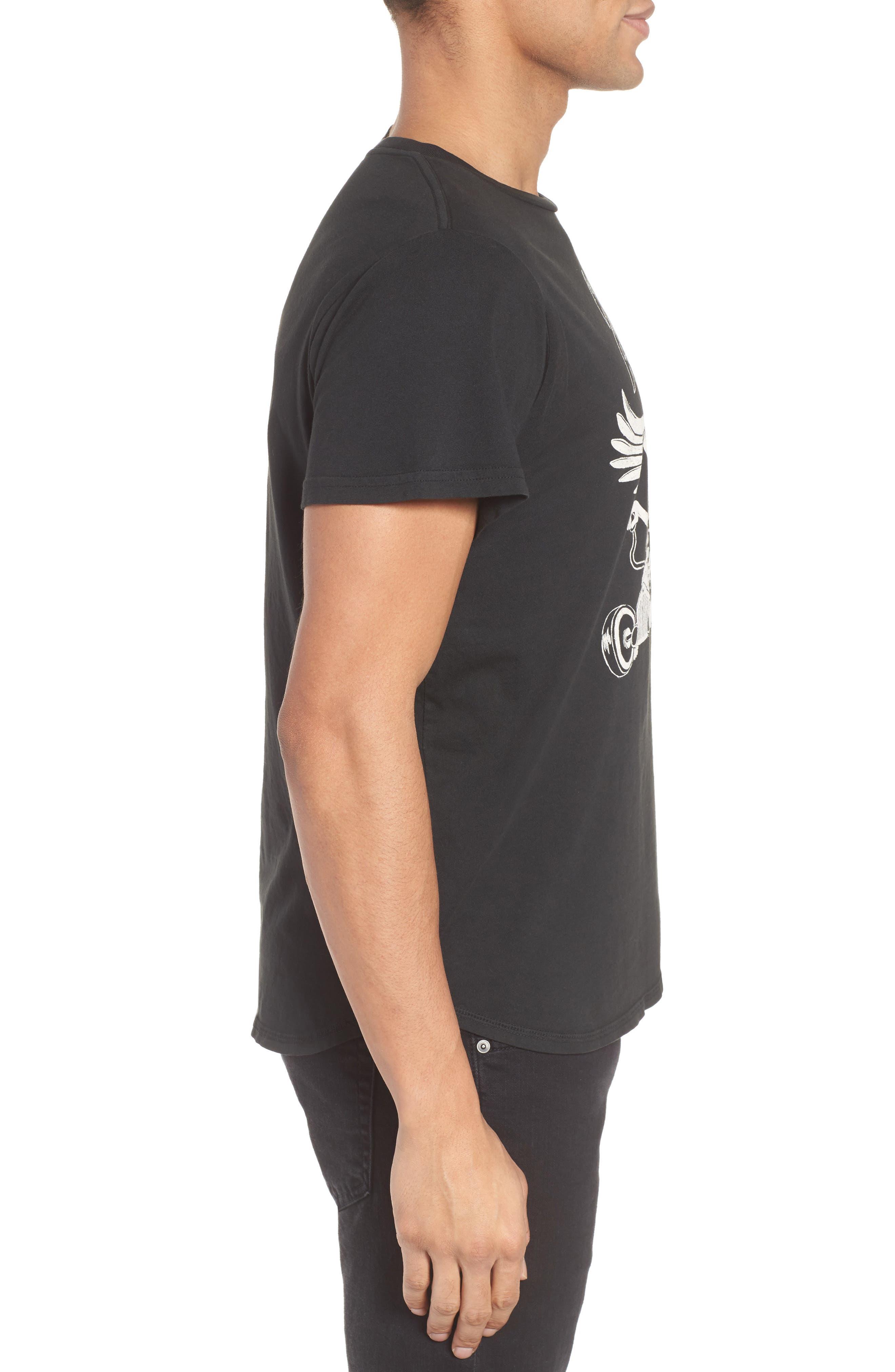 Wide Awake Graphic T-Shirt,                             Alternate thumbnail 3, color,                             Dusty Black