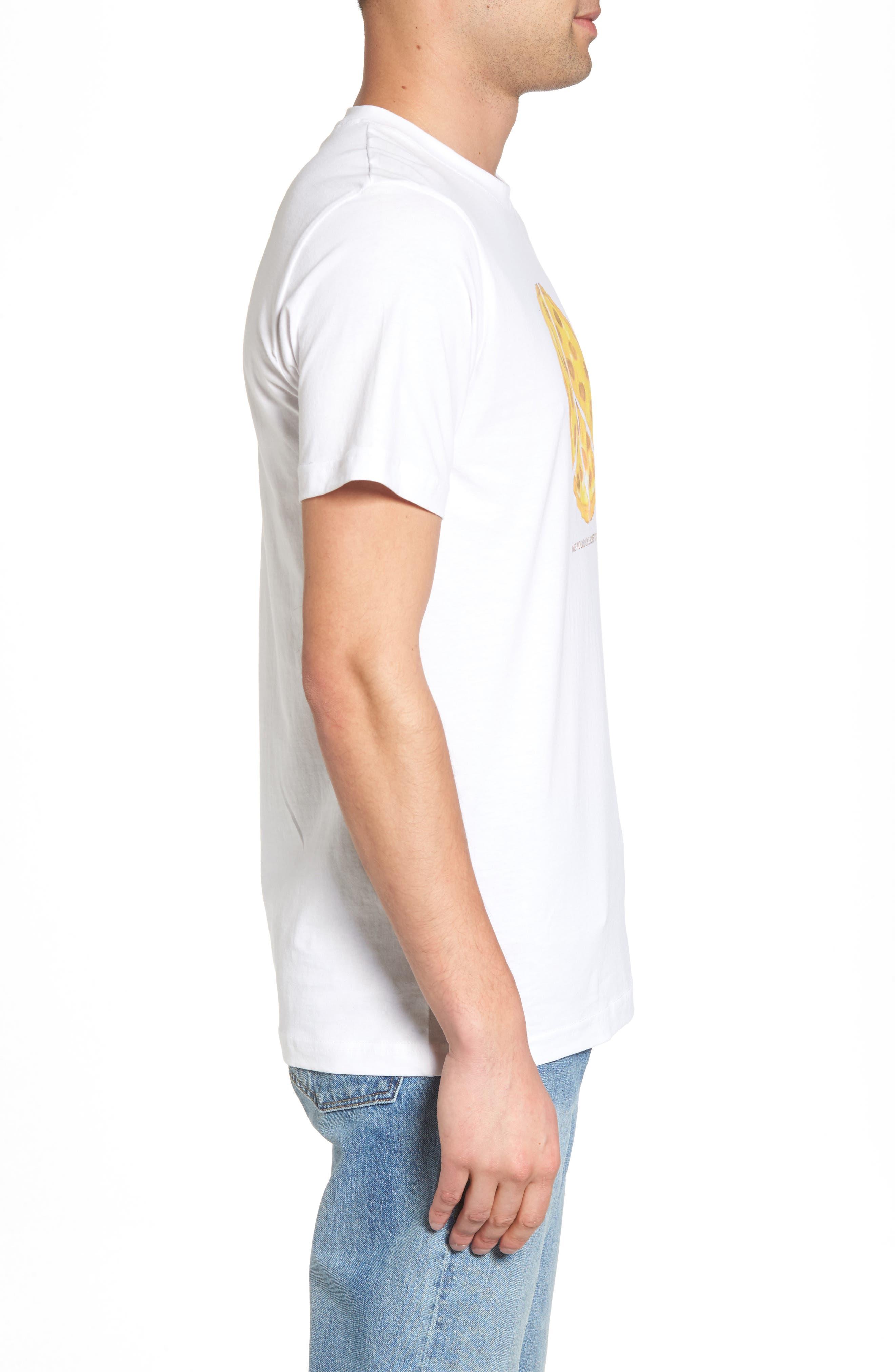 Max Peace Pizza Graphic T-Shirt,                             Alternate thumbnail 3, color,                             White