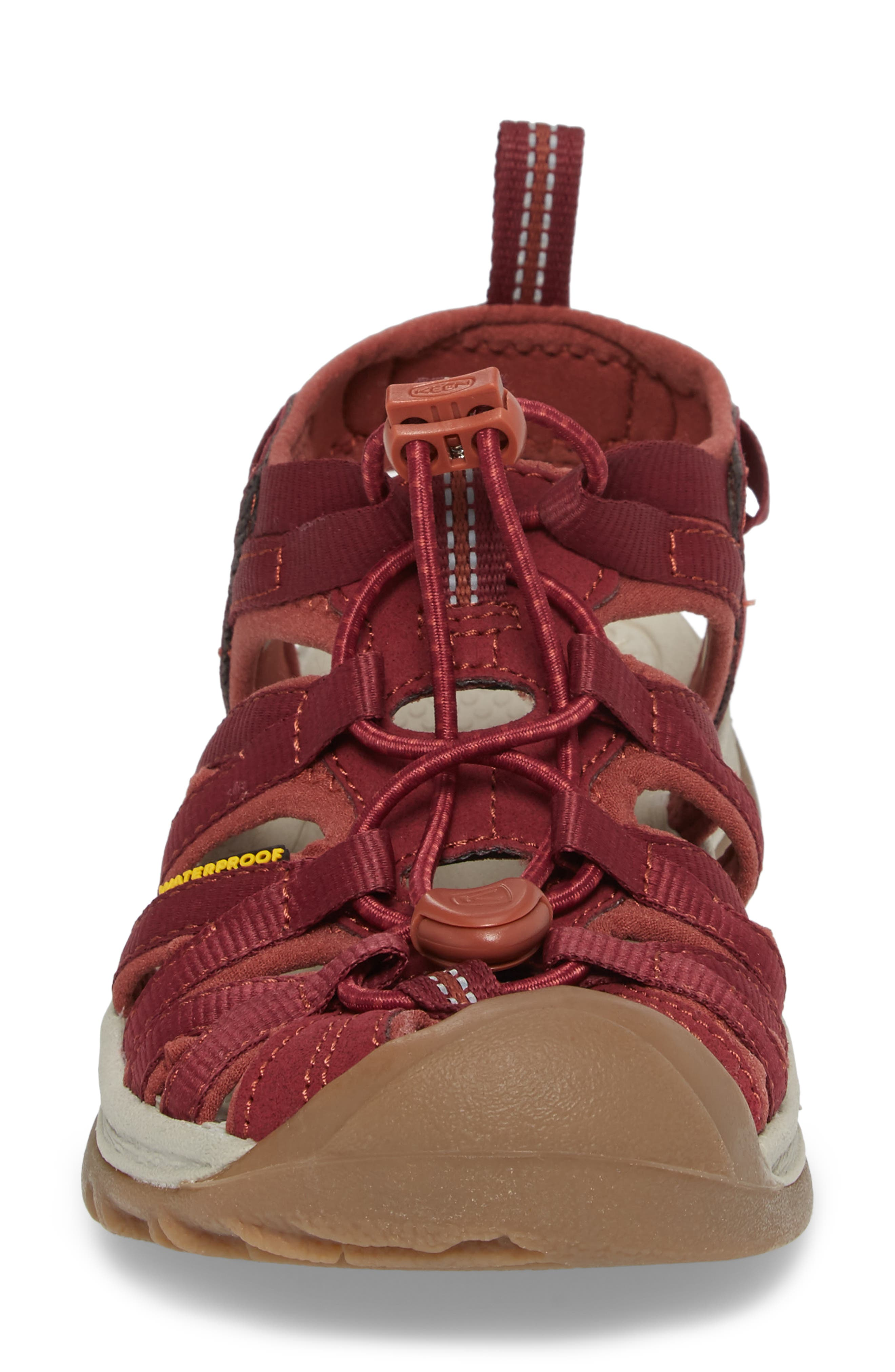 'Whisper' Water Friendly Sport Sandal,                             Alternate thumbnail 4, color,                             Rhododendron/ Marsala