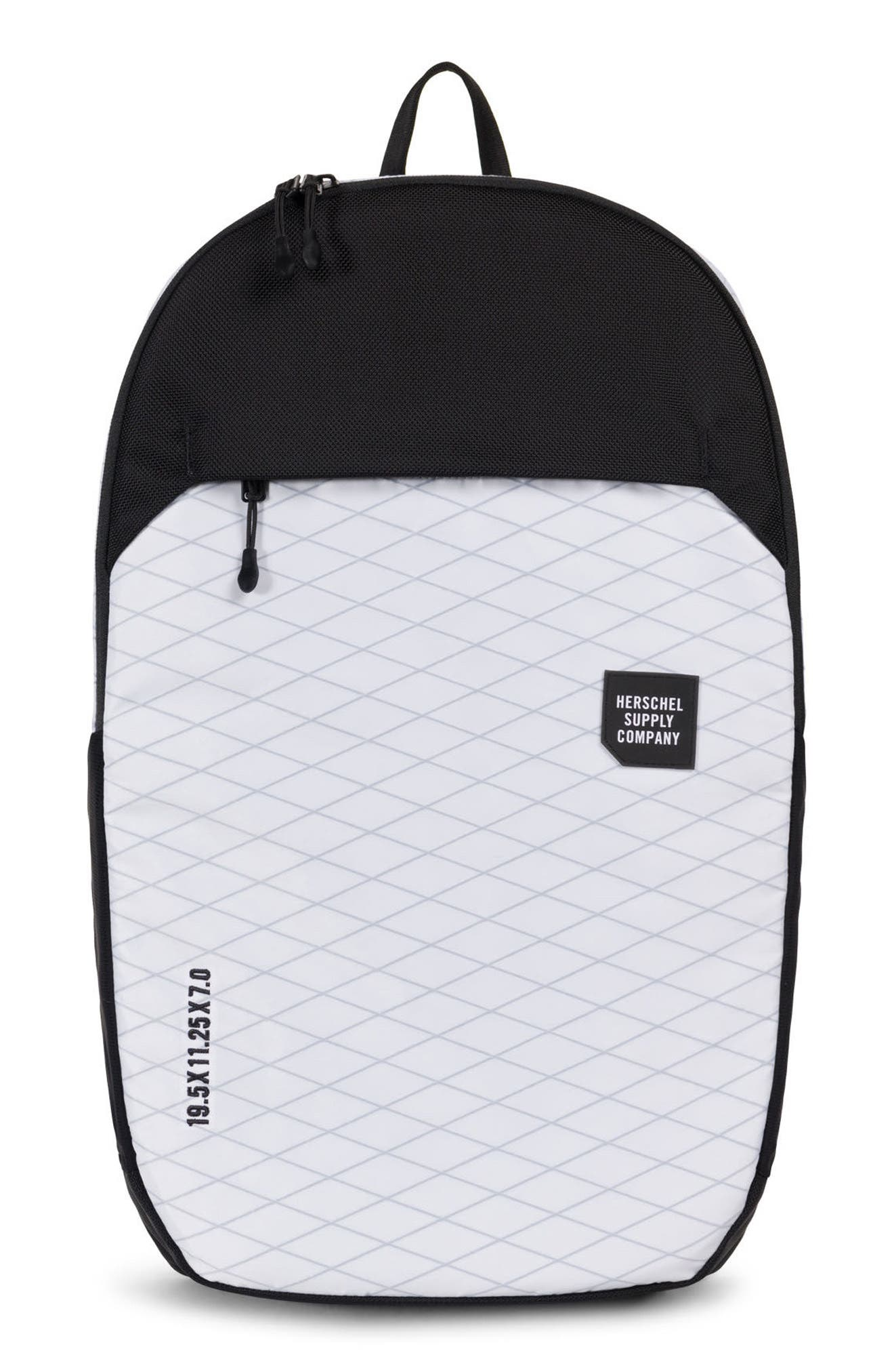Trail Sailcloth Mammoth Large Backpack,                             Main thumbnail 1, color,                             White/ Black