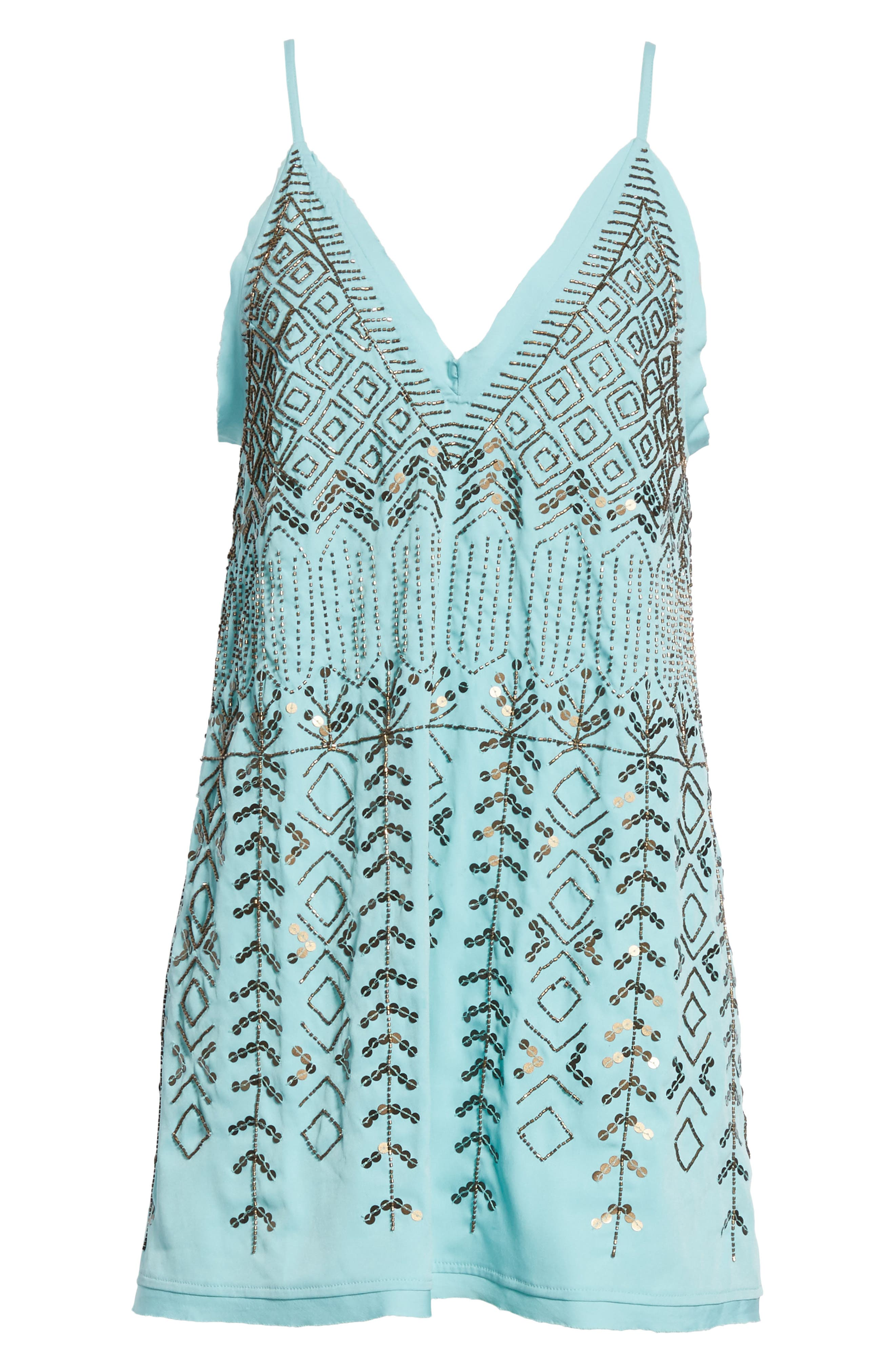 Arizona Nights Mini Slipdress,                             Alternate thumbnail 6, color,                             Mint