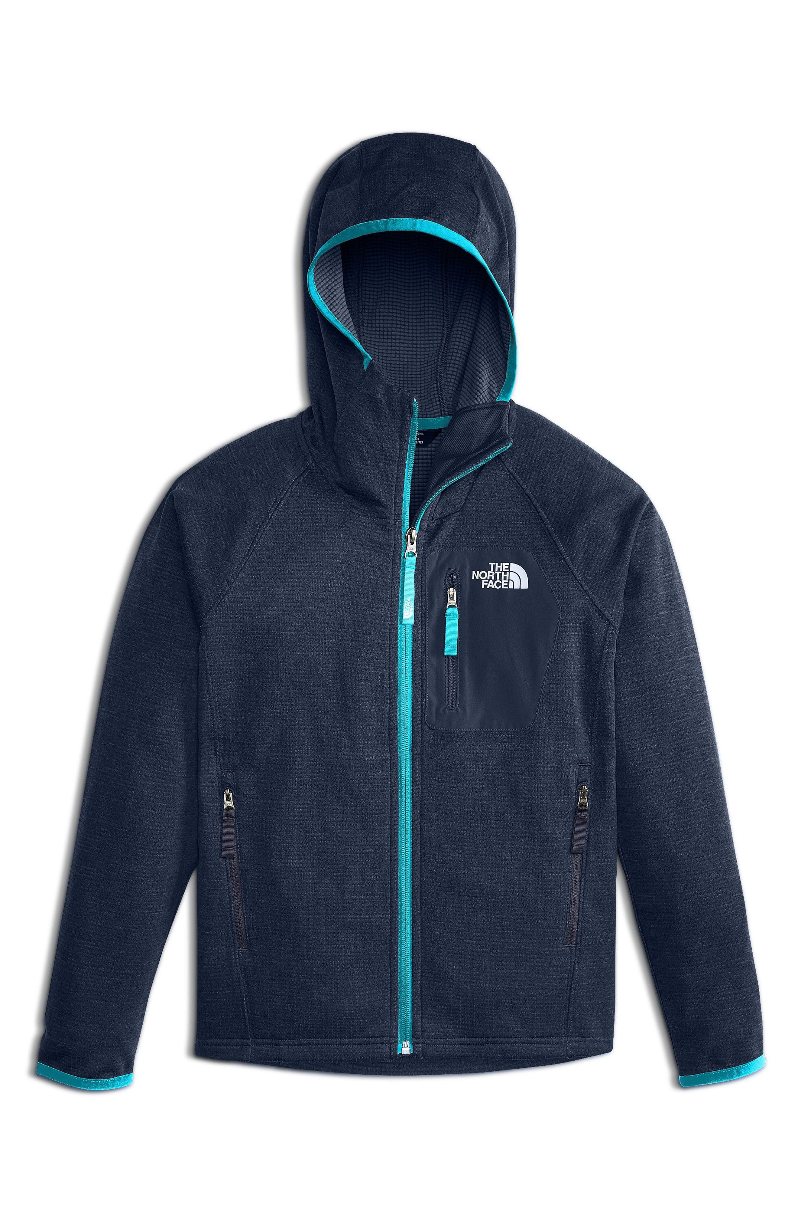 Mid Cloud Fleece Hoodie,                             Main thumbnail 1, color,                             Cosmic Blue